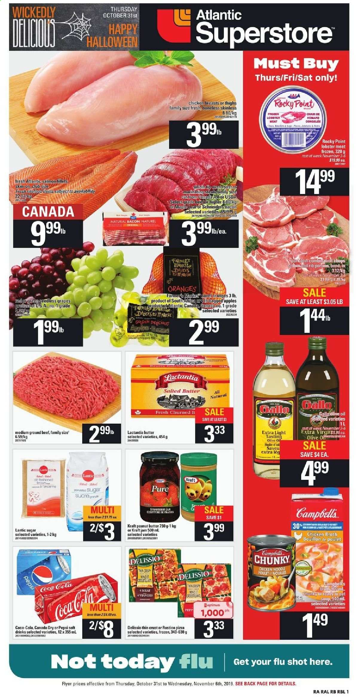 Atlantic Superstore Flyer  - October 31, 2019 - November 06, 2019. Page 1.