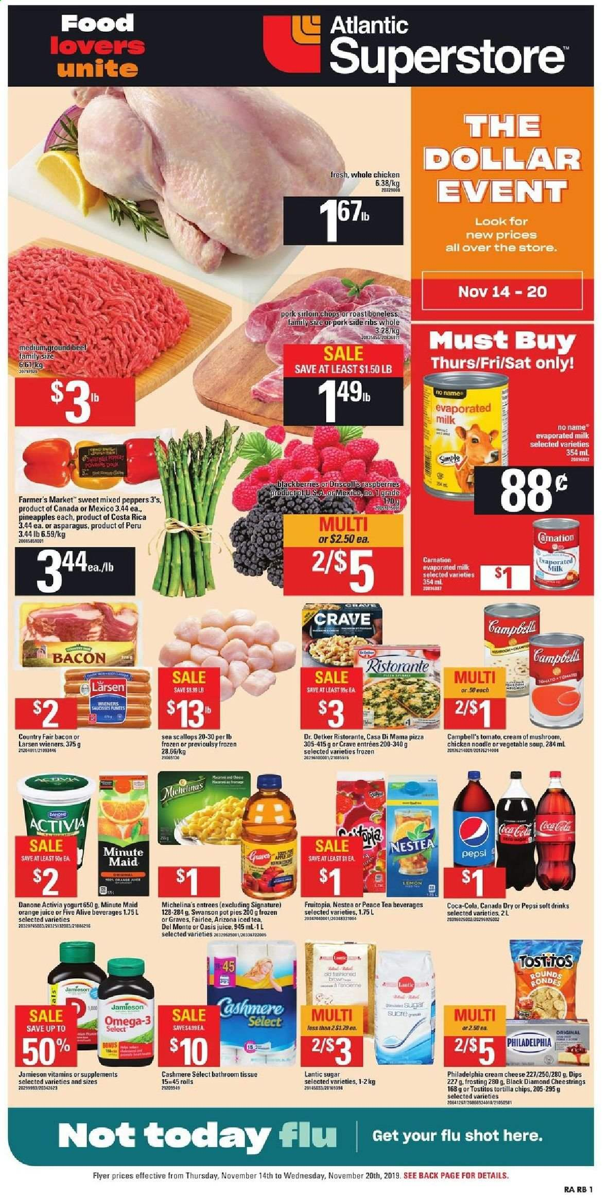 Atlantic Superstore Flyer  - November 14, 2019 - November 20, 2019. Page 1.