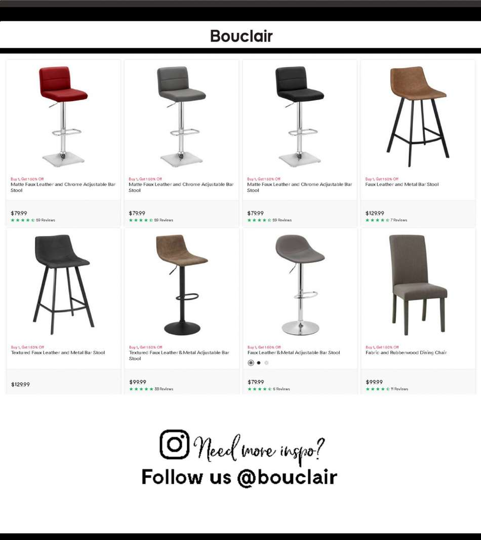 Enjoyable Current Bouclair Flyer Ca Flyers Com Gmtry Best Dining Table And Chair Ideas Images Gmtryco