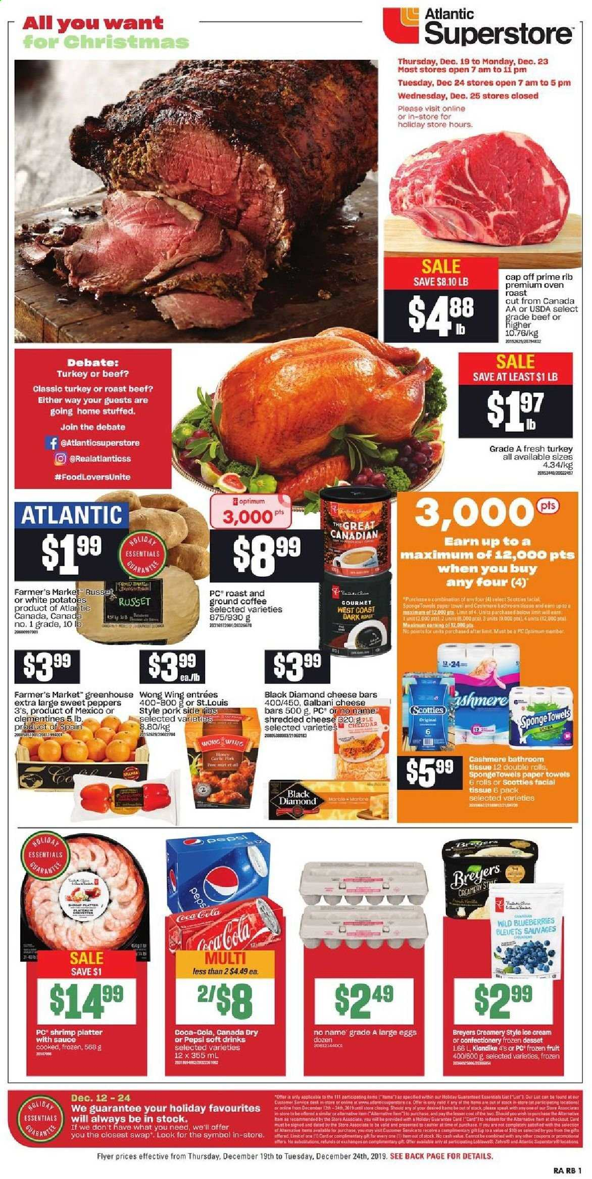 Atlantic Superstore Flyer  - December 19, 2019 - December 24, 2019. Page 1.
