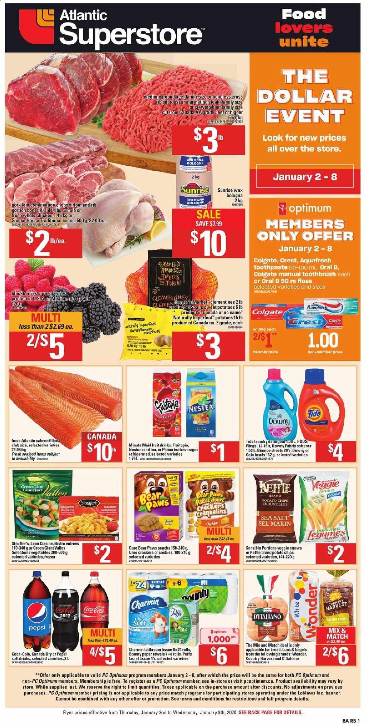 Atlantic Superstore Flyer  - January 02, 2020 - January 08, 2020. Page 1.