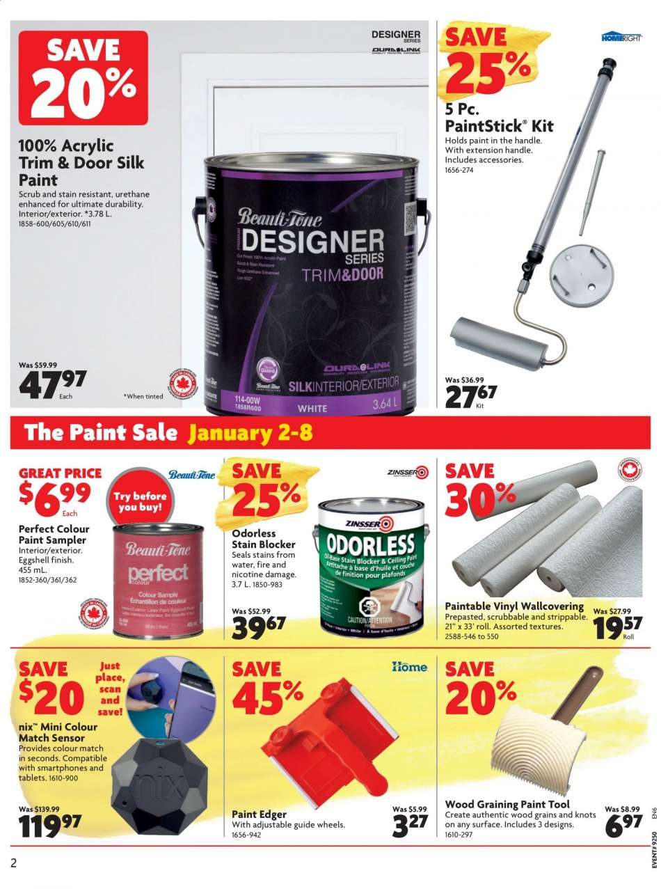 Cur Home Hardware Flyer January 02