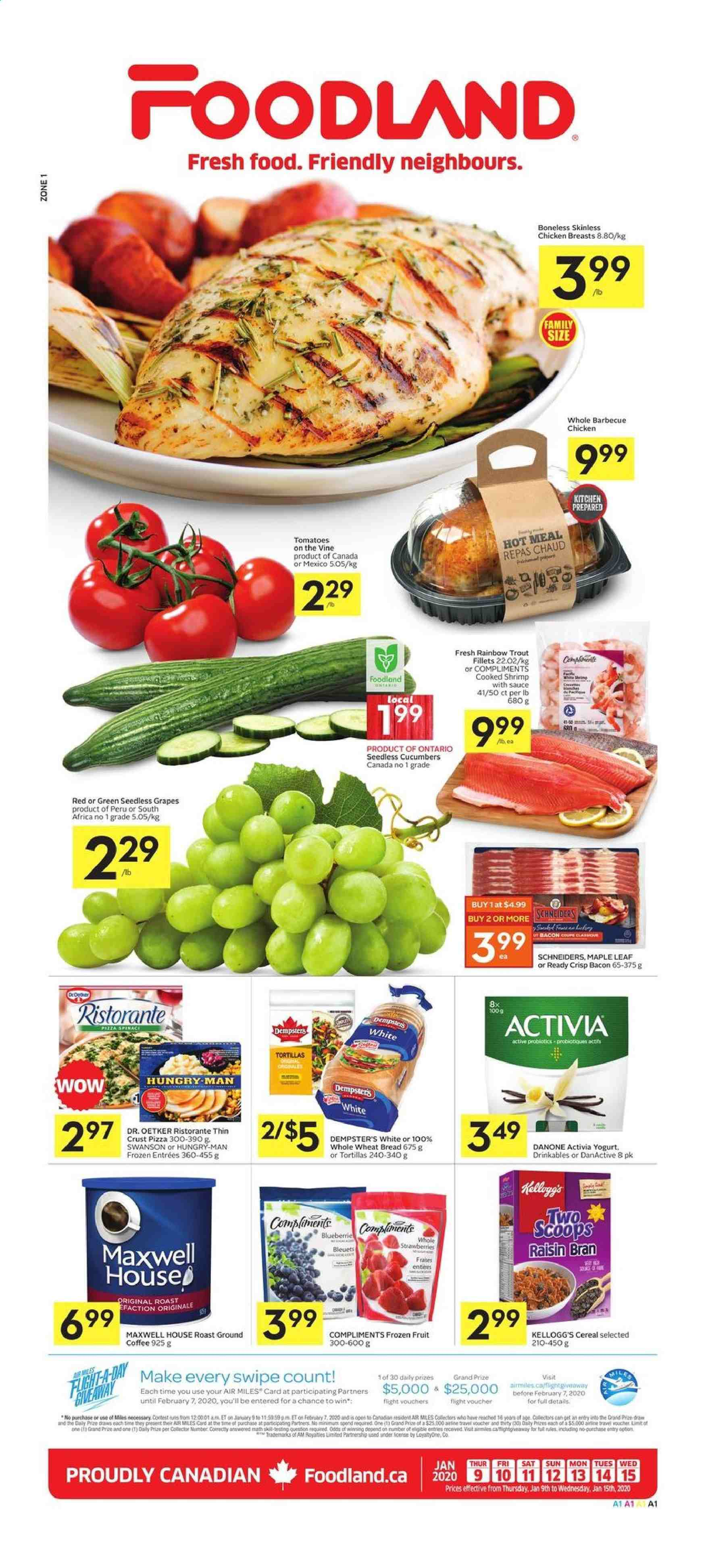Foodland Flyer  - January 09, 2020 - January 15, 2020. Page 1.