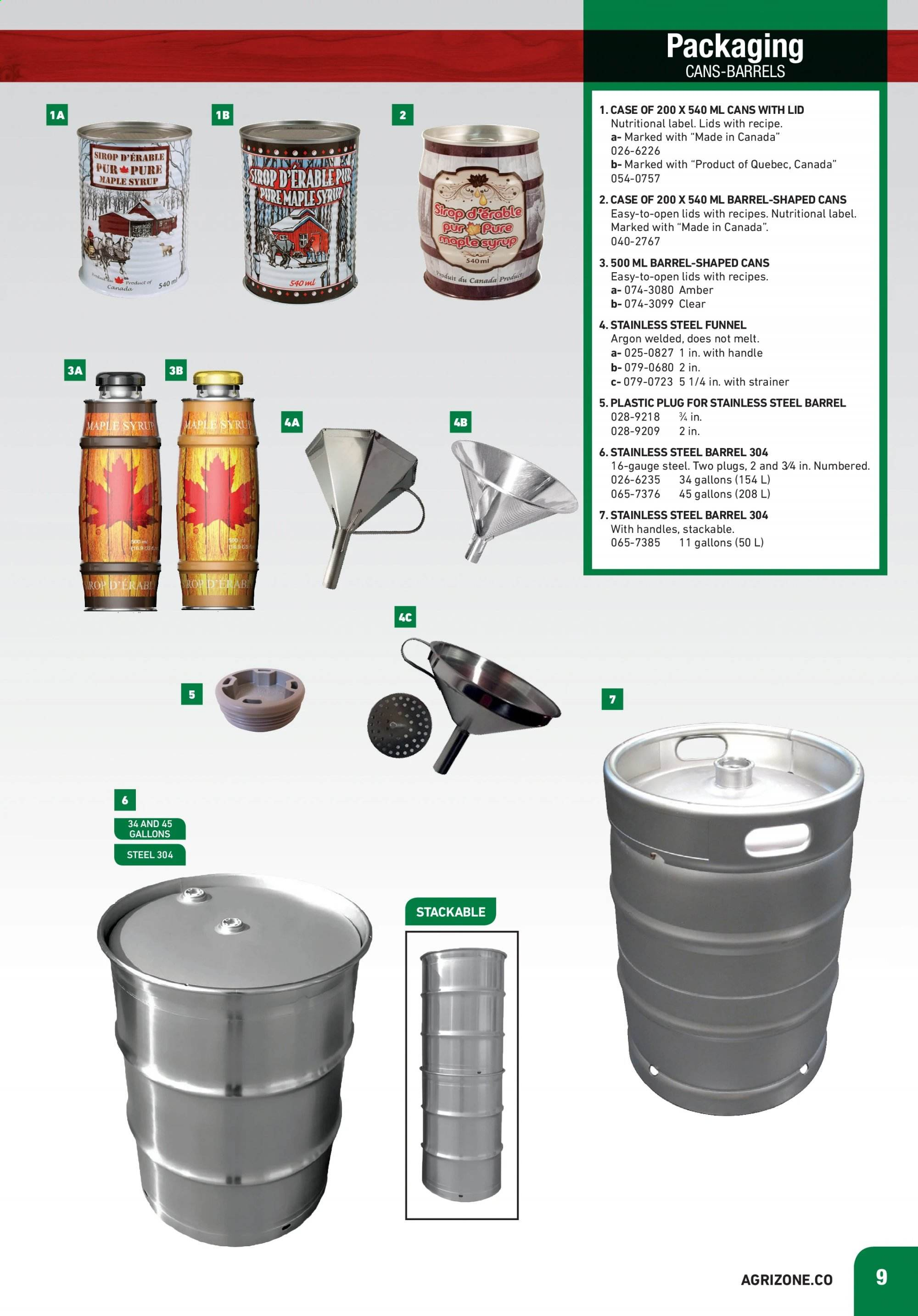 BMR Flyer - January 01, 2020 - July 31, 2020 - Sales products - amber, lid, maple syrup, handles, sirop, pur. Page 9.