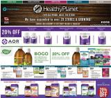 Healthy Planet Flyer - January 16, 2020 - February 12, 2020.