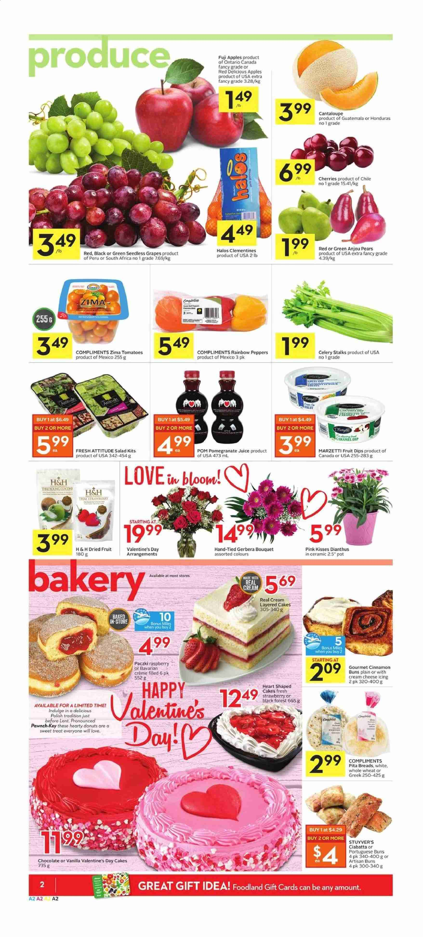 Foodland Flyer  - February 13, 2020 - February 19, 2020. Page 2.