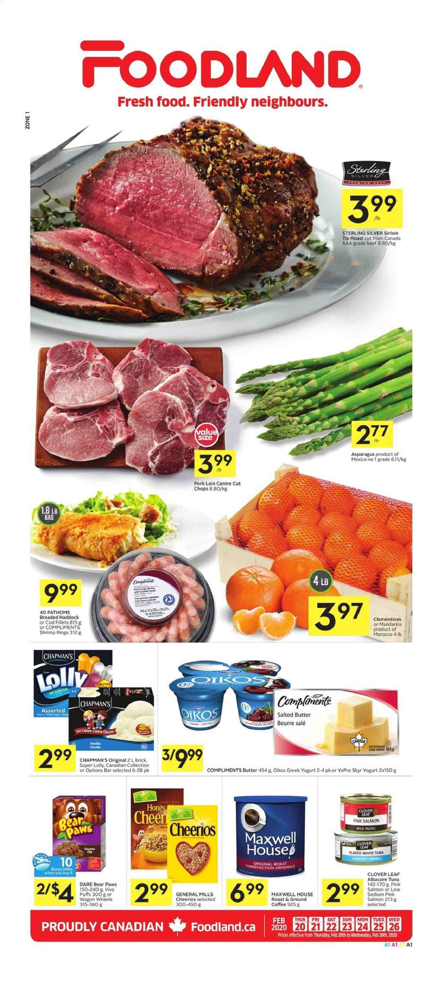 Foodland Flyer  - February 20, 2020 - February 26, 2020. Page 1.