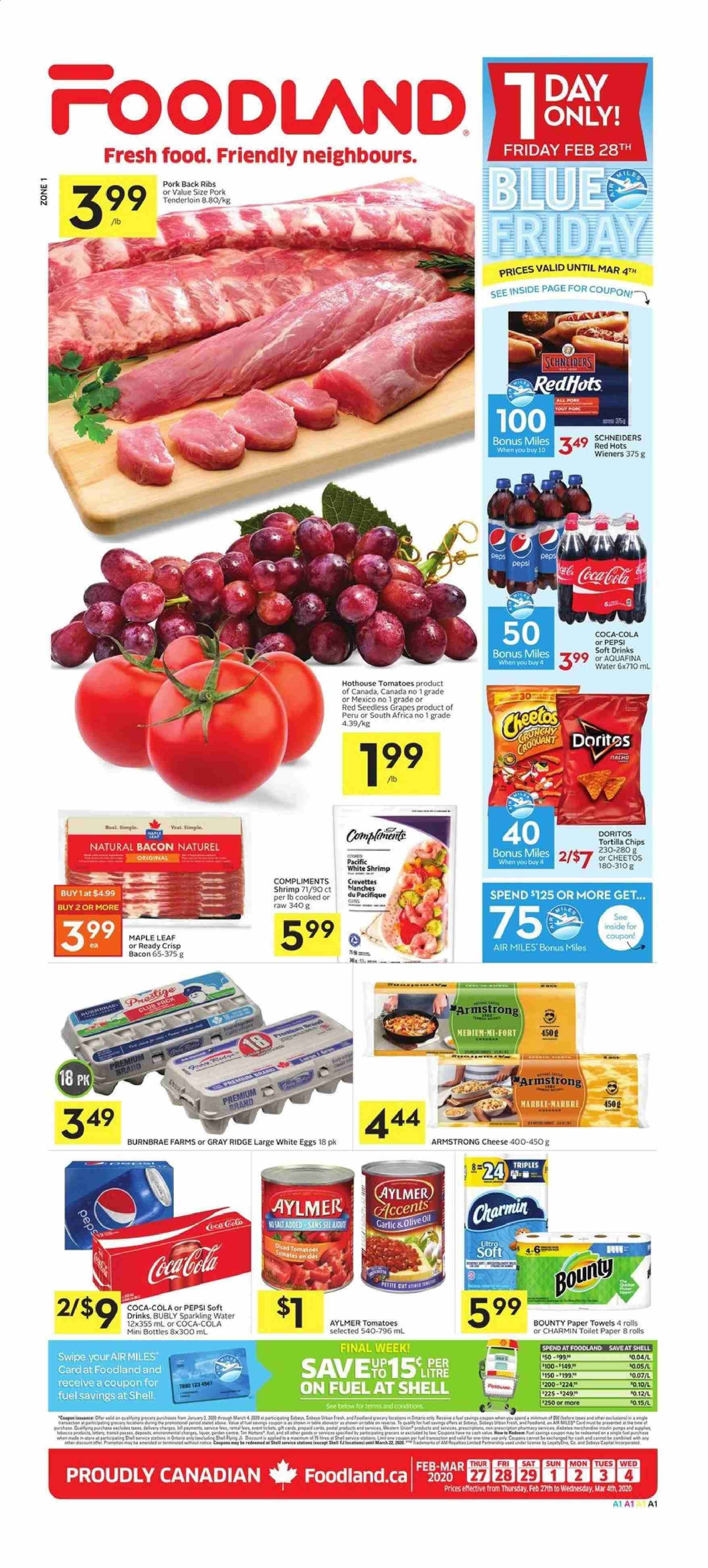 Foodland Flyer  - February 27, 2020 - March 04, 2020. Page 1.