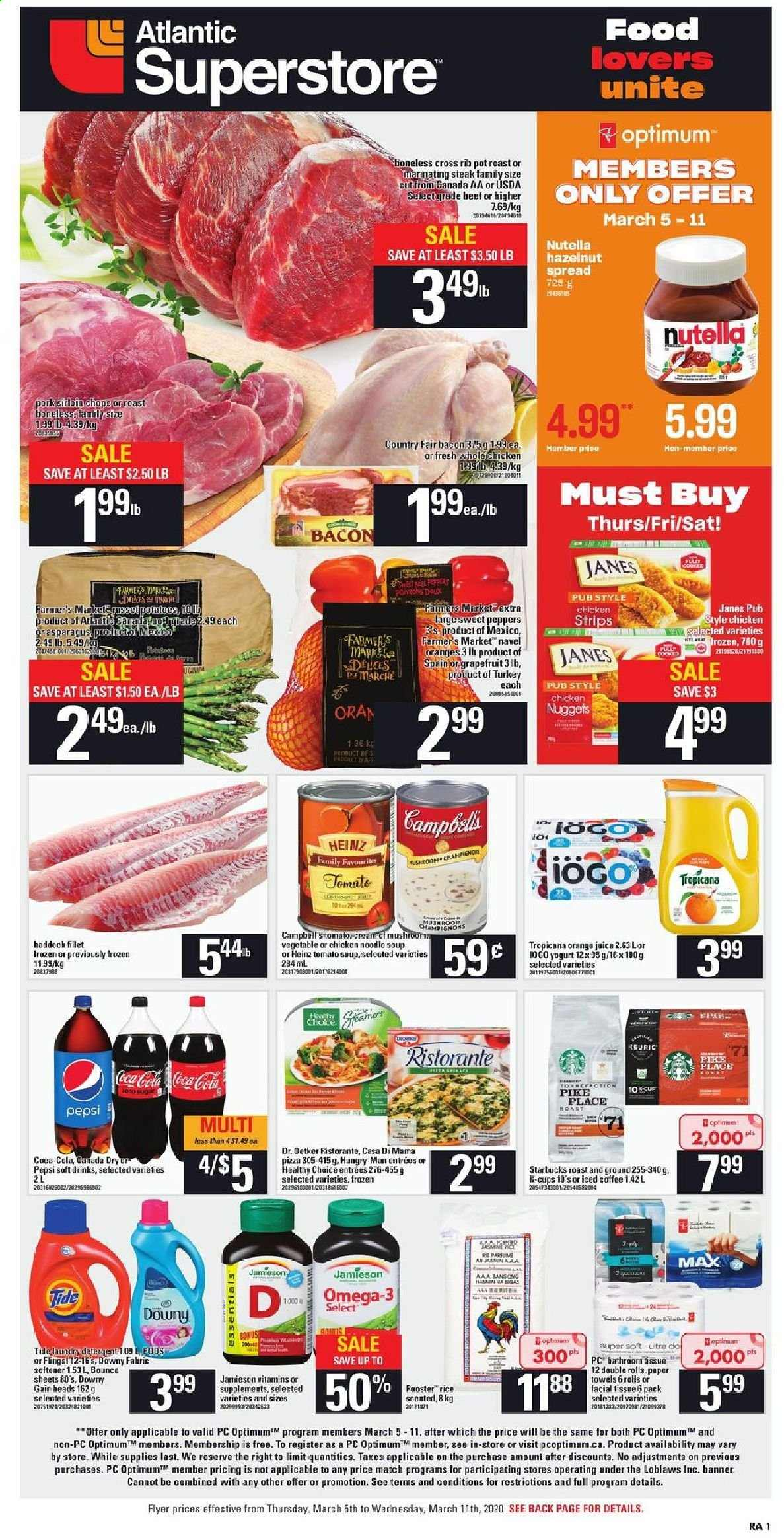 Atlantic Superstore Flyer  - March 05, 2020 - March 11, 2020. Page 1.