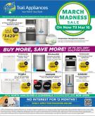 Trail Appliances Flyer - March 06, 2020 - March 16, 2020.