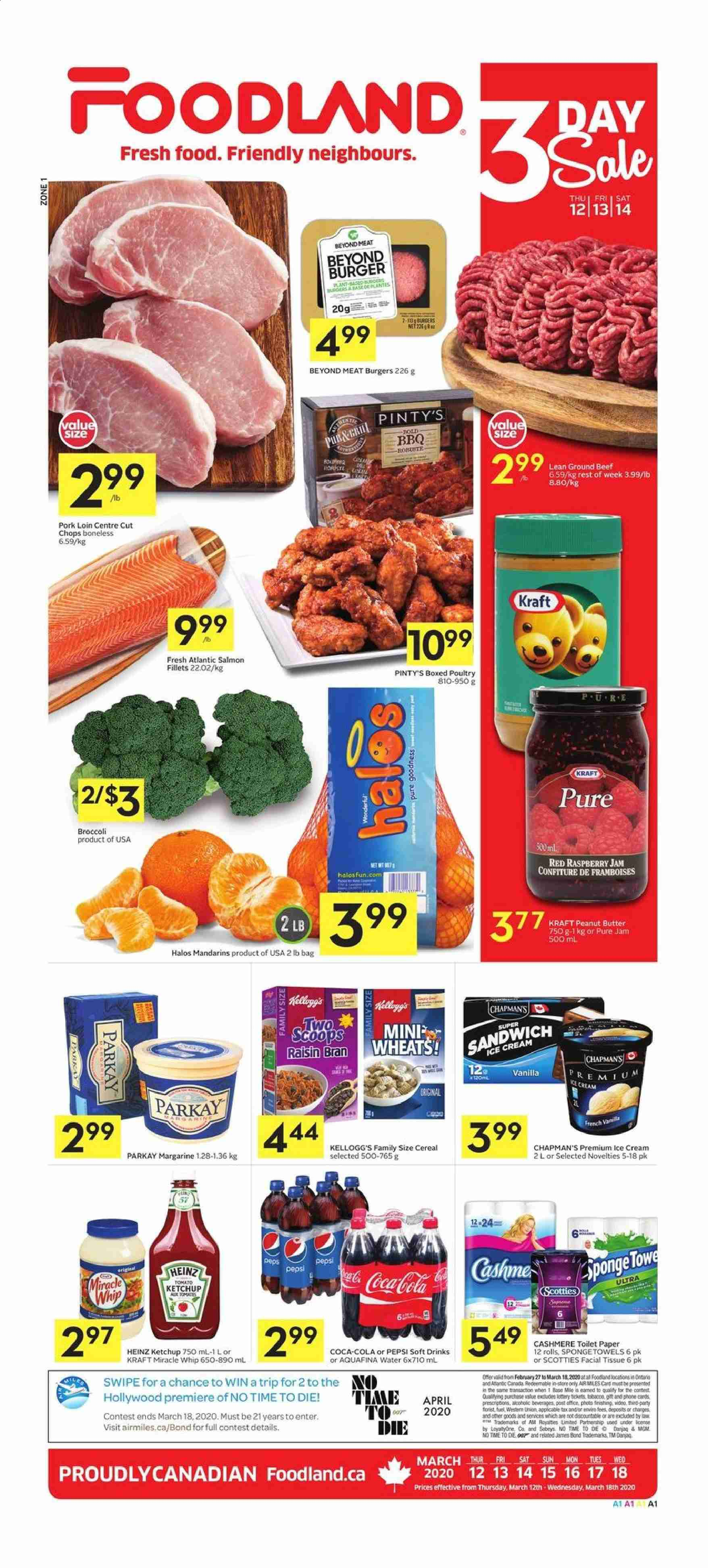 Foodland Flyer  - March 12, 2020 - March 18, 2020. Page 1.