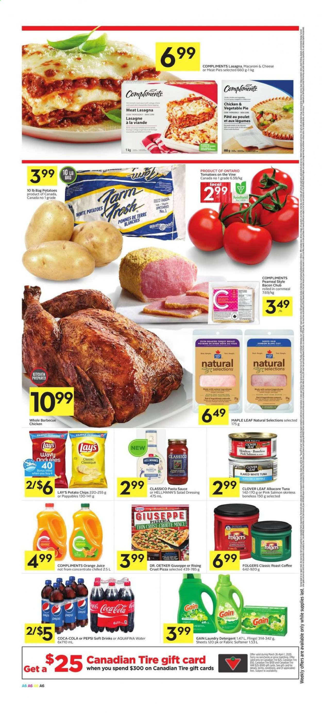 Foodland Flyer  - March 26, 2020 - April 01, 2020. Page 6.