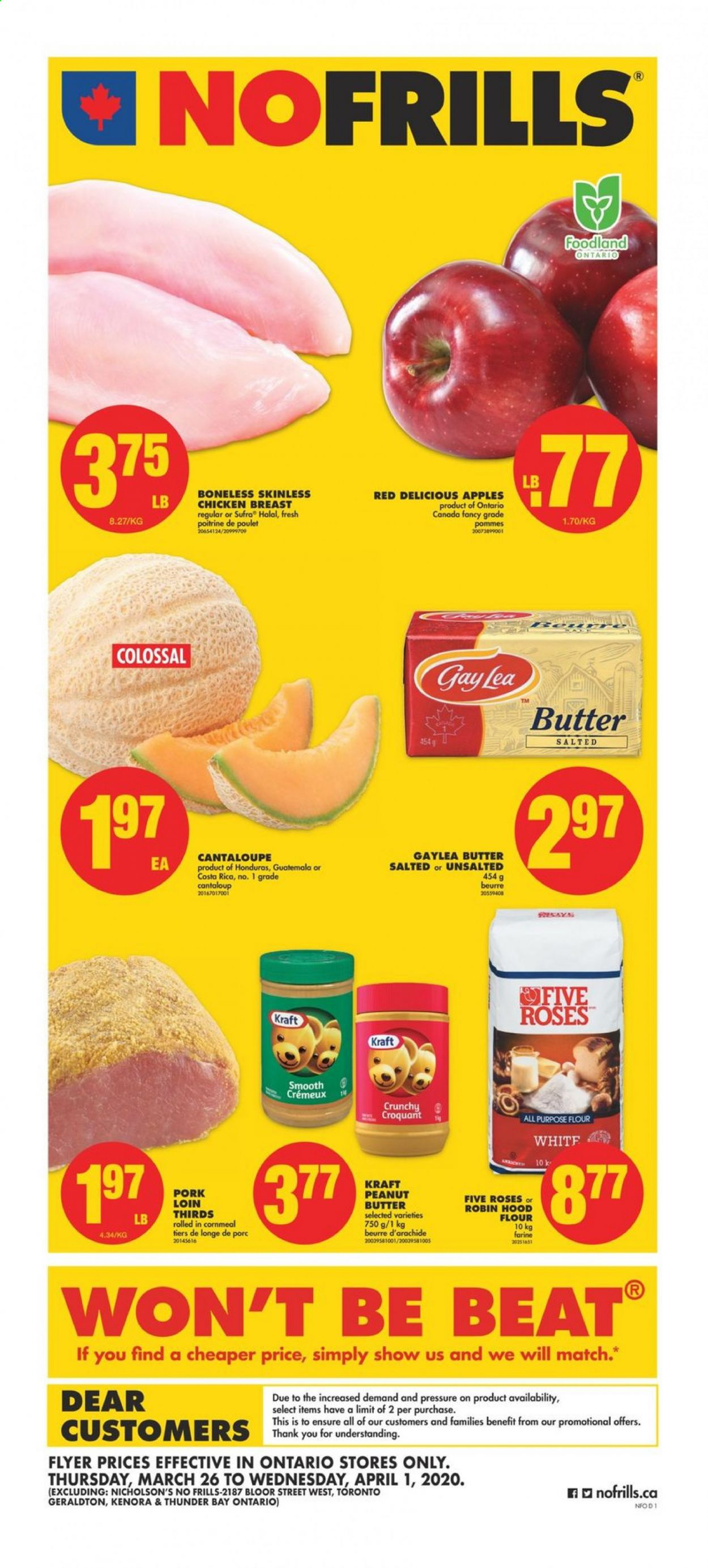 No Frills Flyer  - March 26, 2020 - April 01, 2020. Page 1.