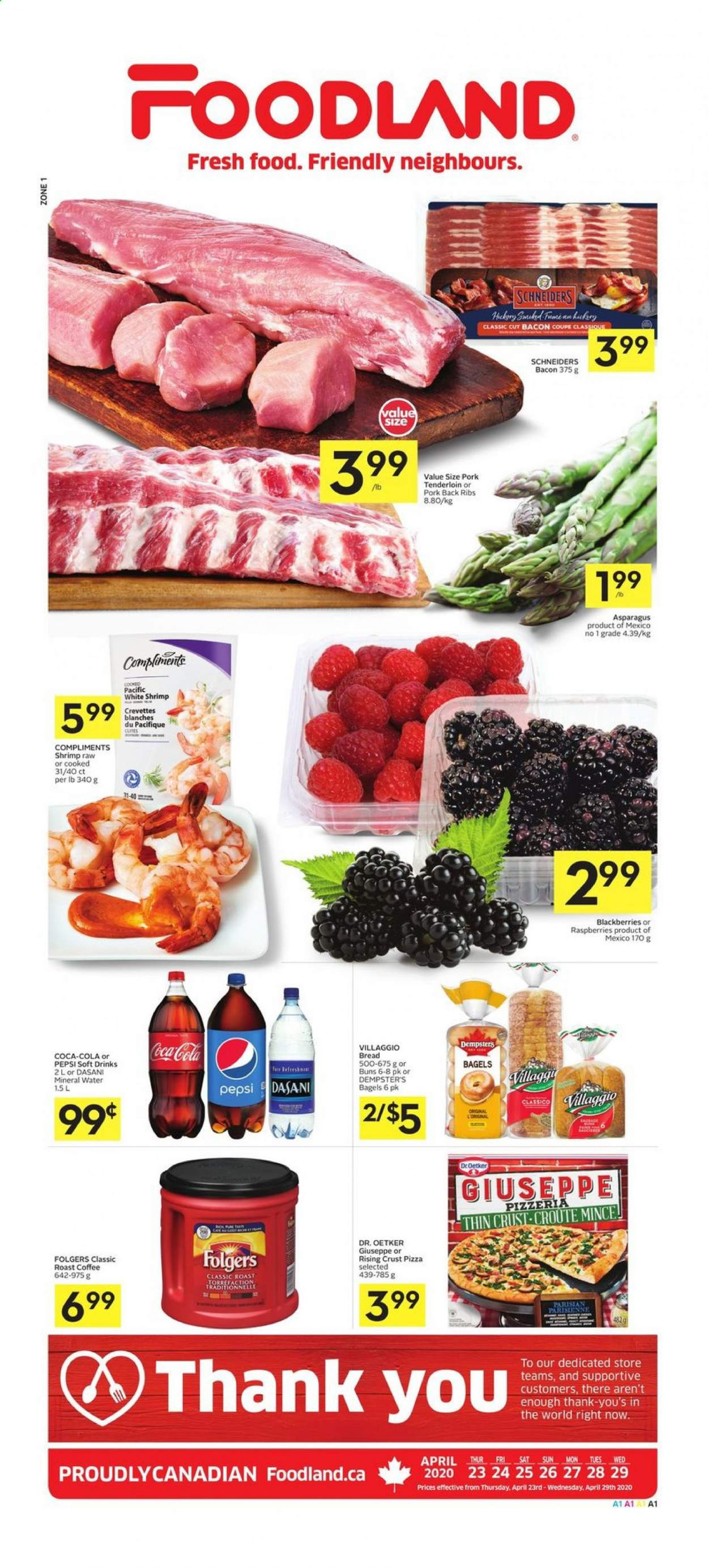 Foodland Flyer  - April 23, 2020 - April 29, 2020. Page 1.