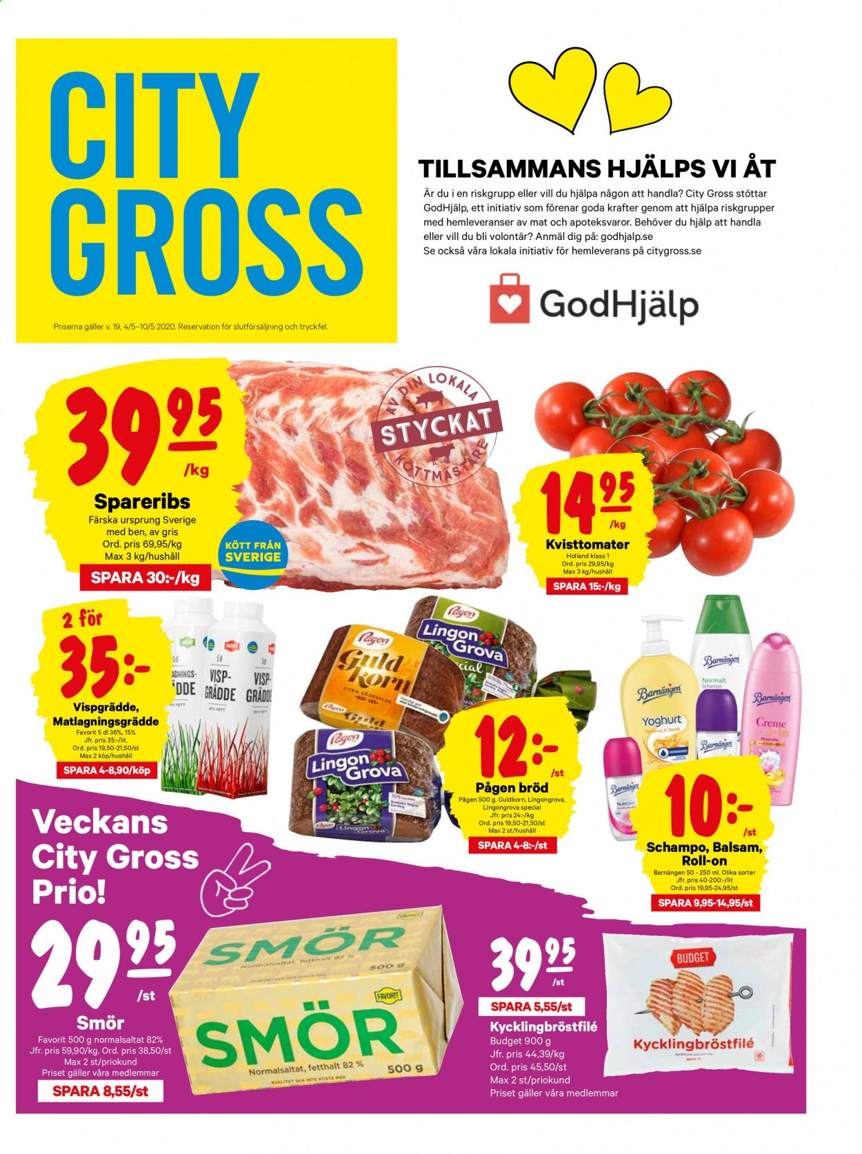 City Gross reklamblad - 4/5 2020 - 10/5 2020. Sida 1.