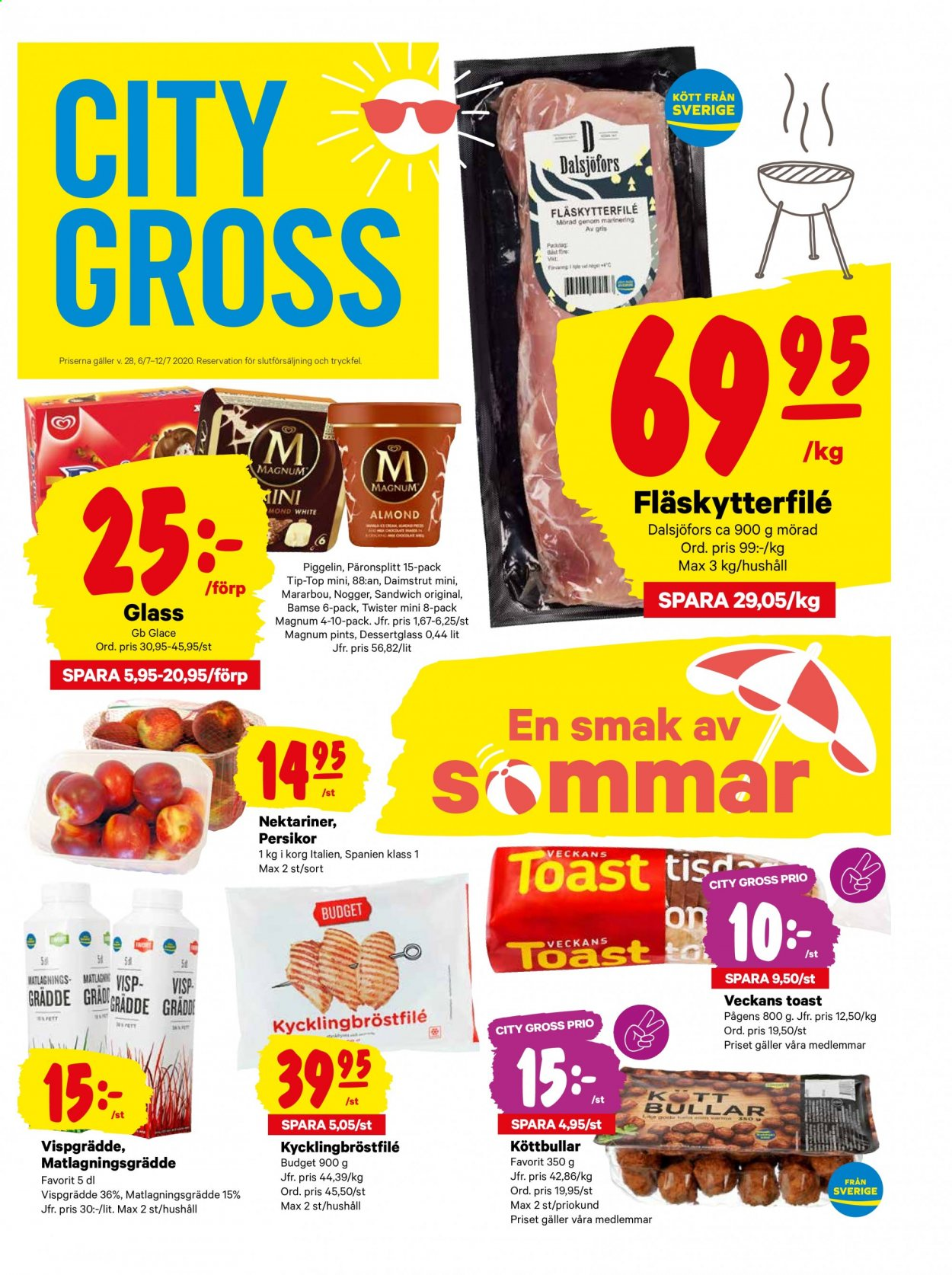 City Gross reklamblad - 6/7 2020 - 12/7 2020. Sida 1.