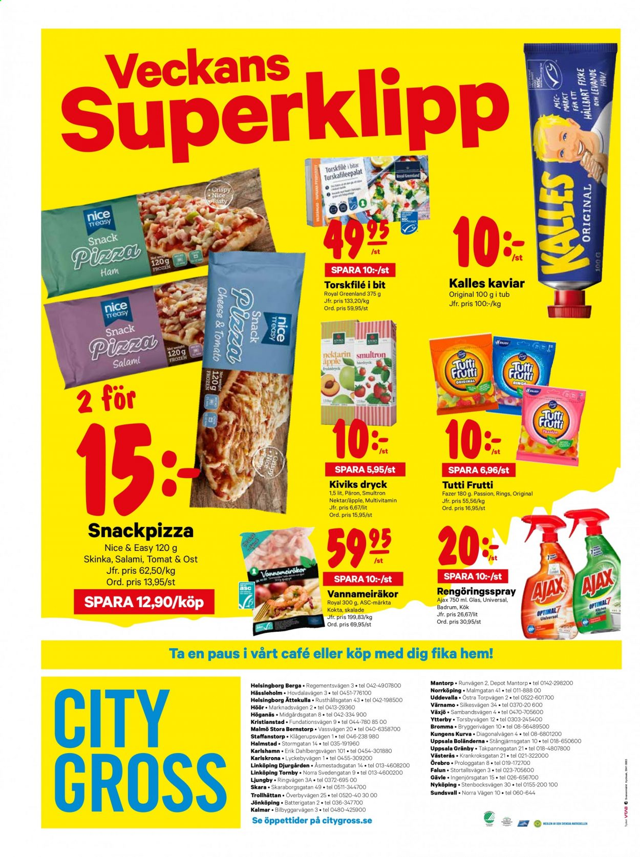 City Gross reklamblad - 6/7 2020 - 12/7 2020. Sida 16.
