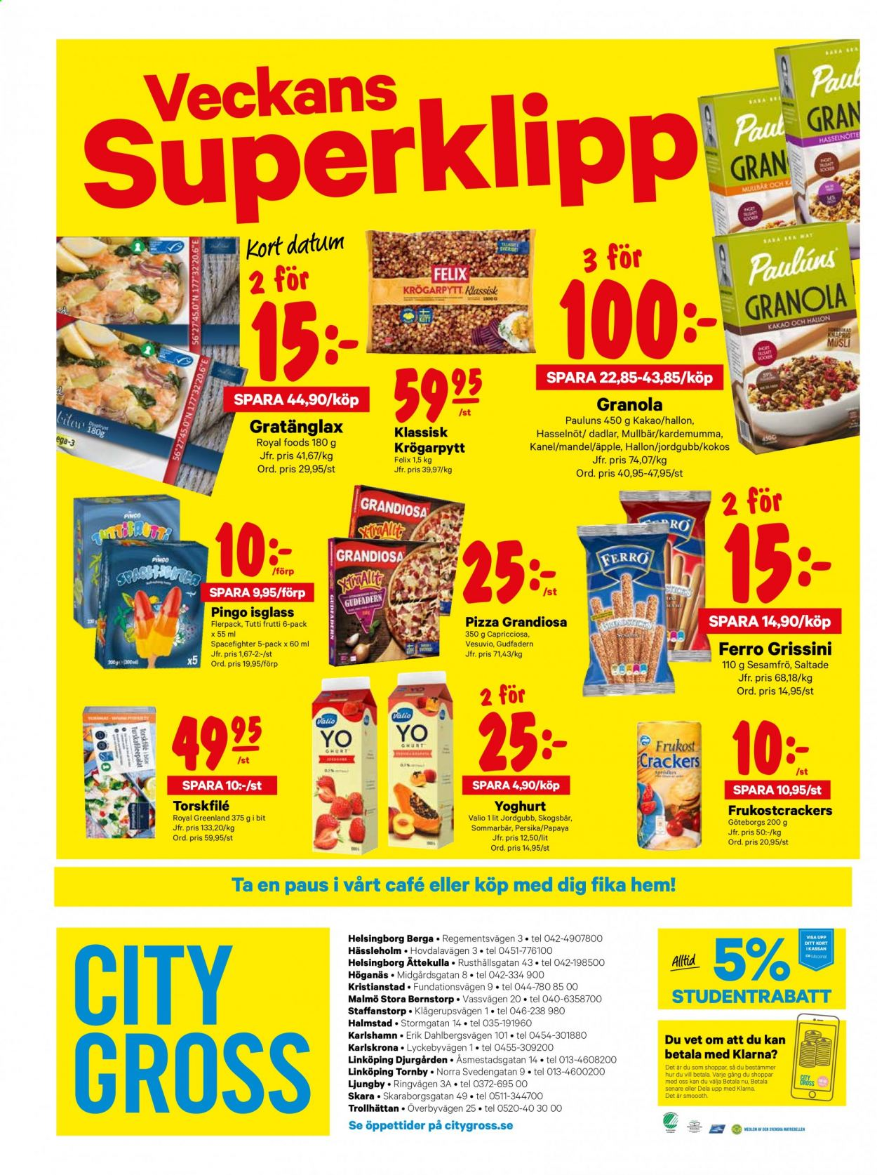 City Gross reklamblad - 3/8 2020 - 9/8 2020. Sida 16.