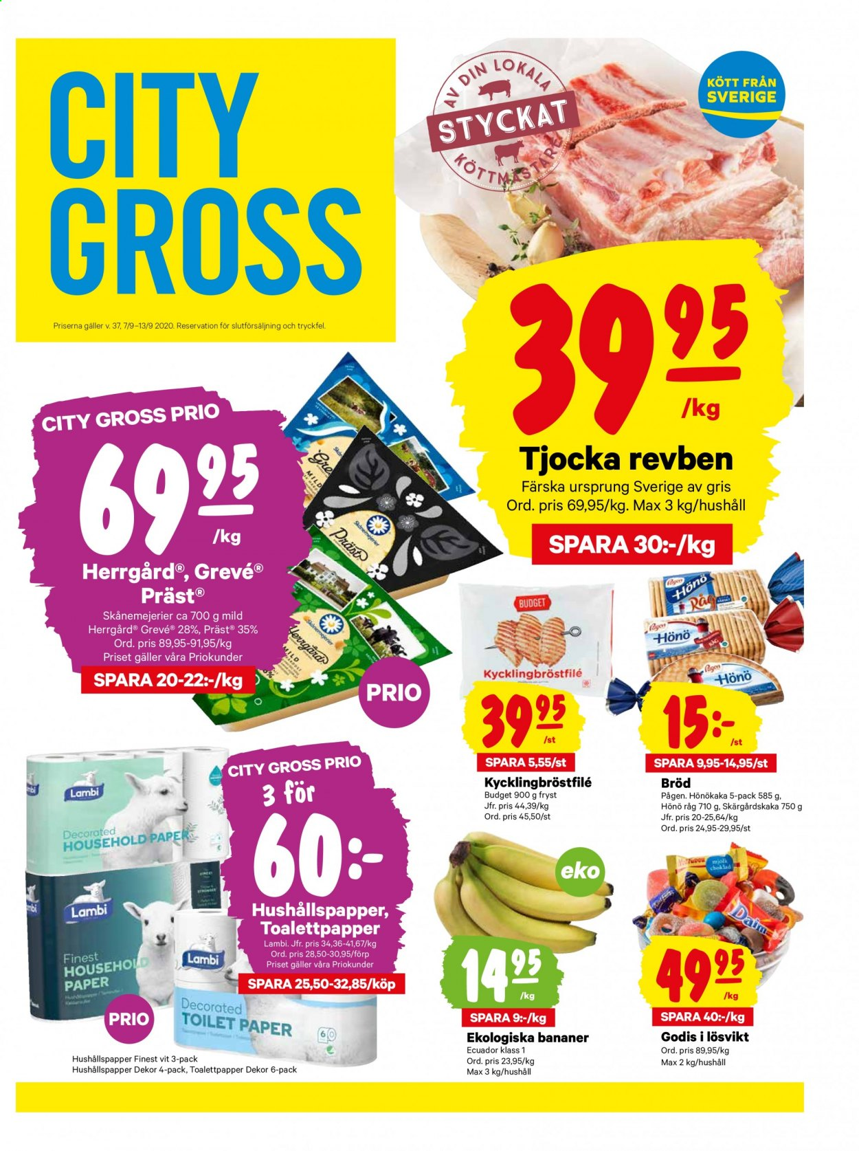 City Gross reklamblad - 7/9 2020 - 13/9 2020. Sida 1.