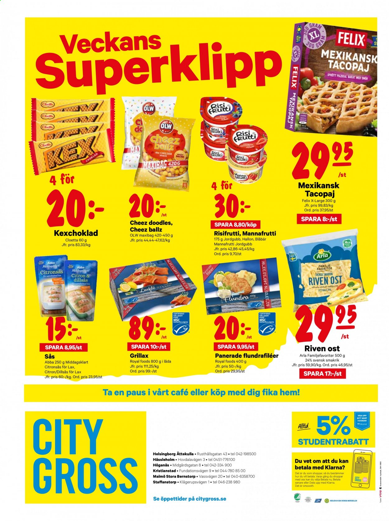 City Gross reklamblad - 7/9 2020 - 13/9 2020. Sida 16.