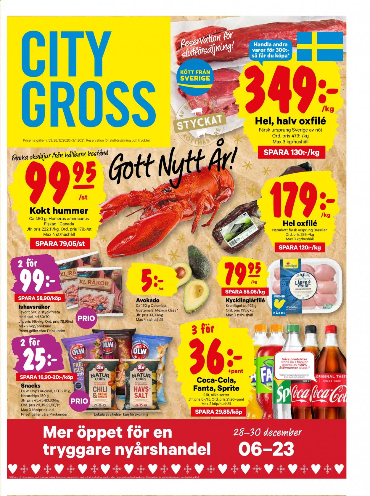 City Gross reklamblad - 29/12 2020 - 3/1 2021. Sida 1.