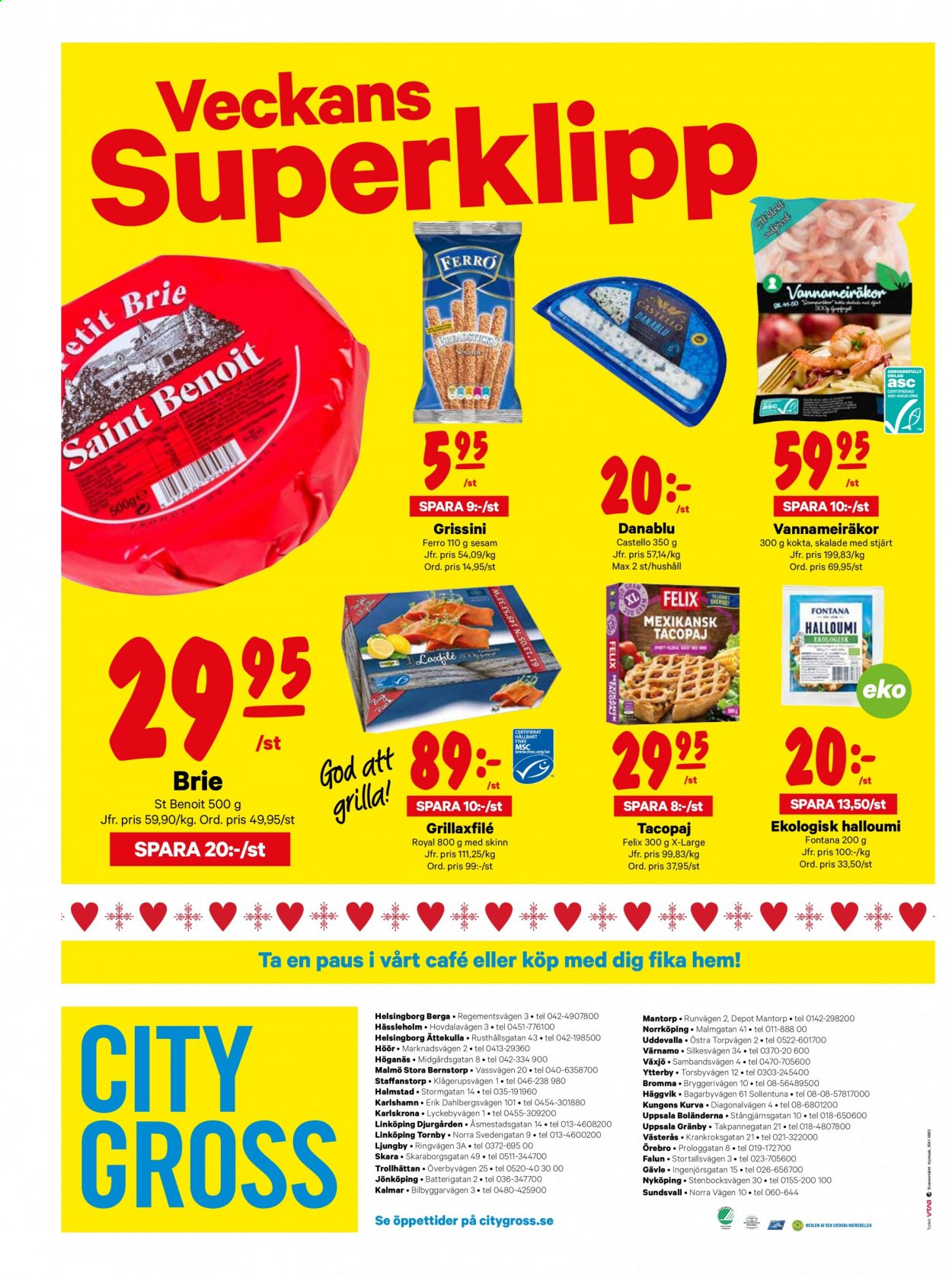 City Gross reklamblad - 29/12 2020 - 3/1 2021. Sida 16.