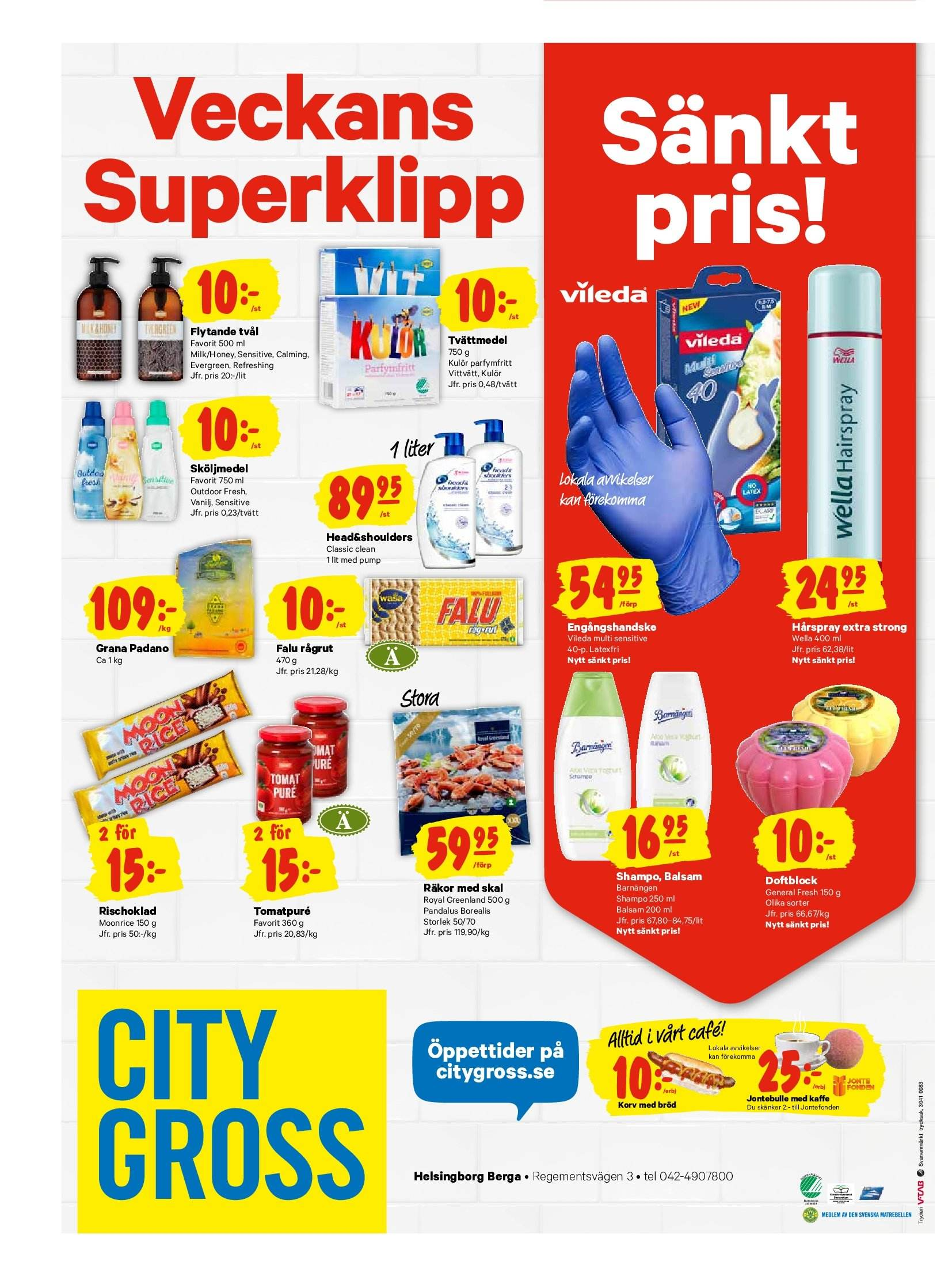 City Gross reklamblad - 17/9 2018 - 23/9 2018. Sida 16.