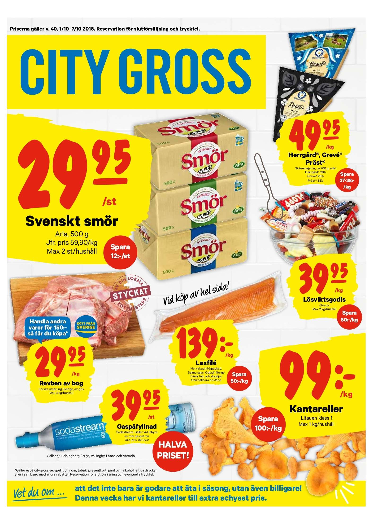 City Gross reklamblad - 1/10 2018 - 7/10 2018. Sida 1.