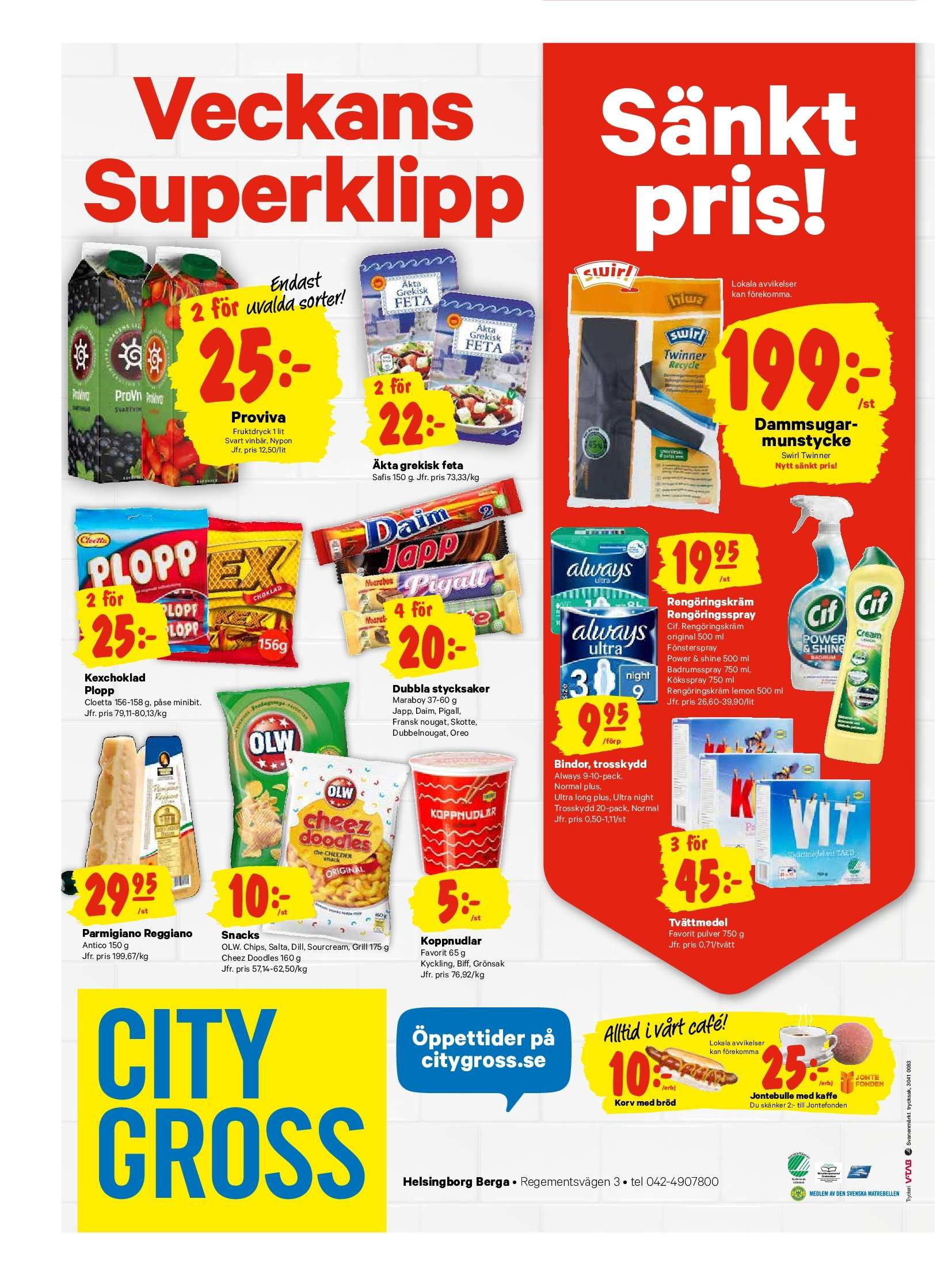 City Gross reklamblad - 1/10 2018 - 7/10 2018. Sida 16.