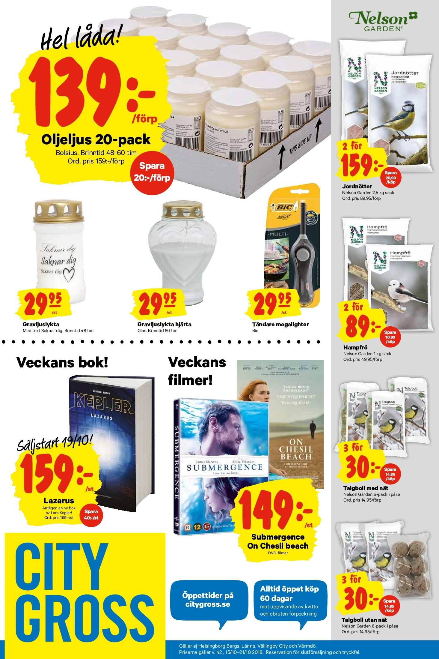 City Gross reklamblad - 15/10 2018 - 21/10 2018. Sida 17.