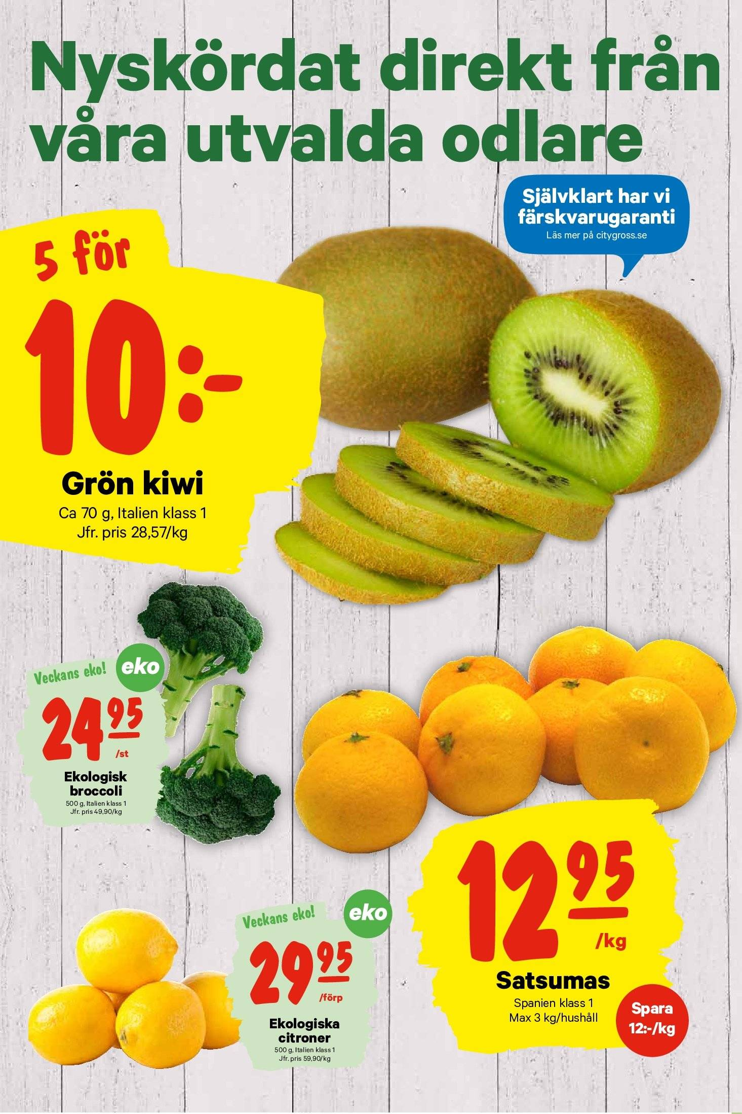 City Gross reklamblad - 22/10 2018 - 28/10 2018. Sida 4.