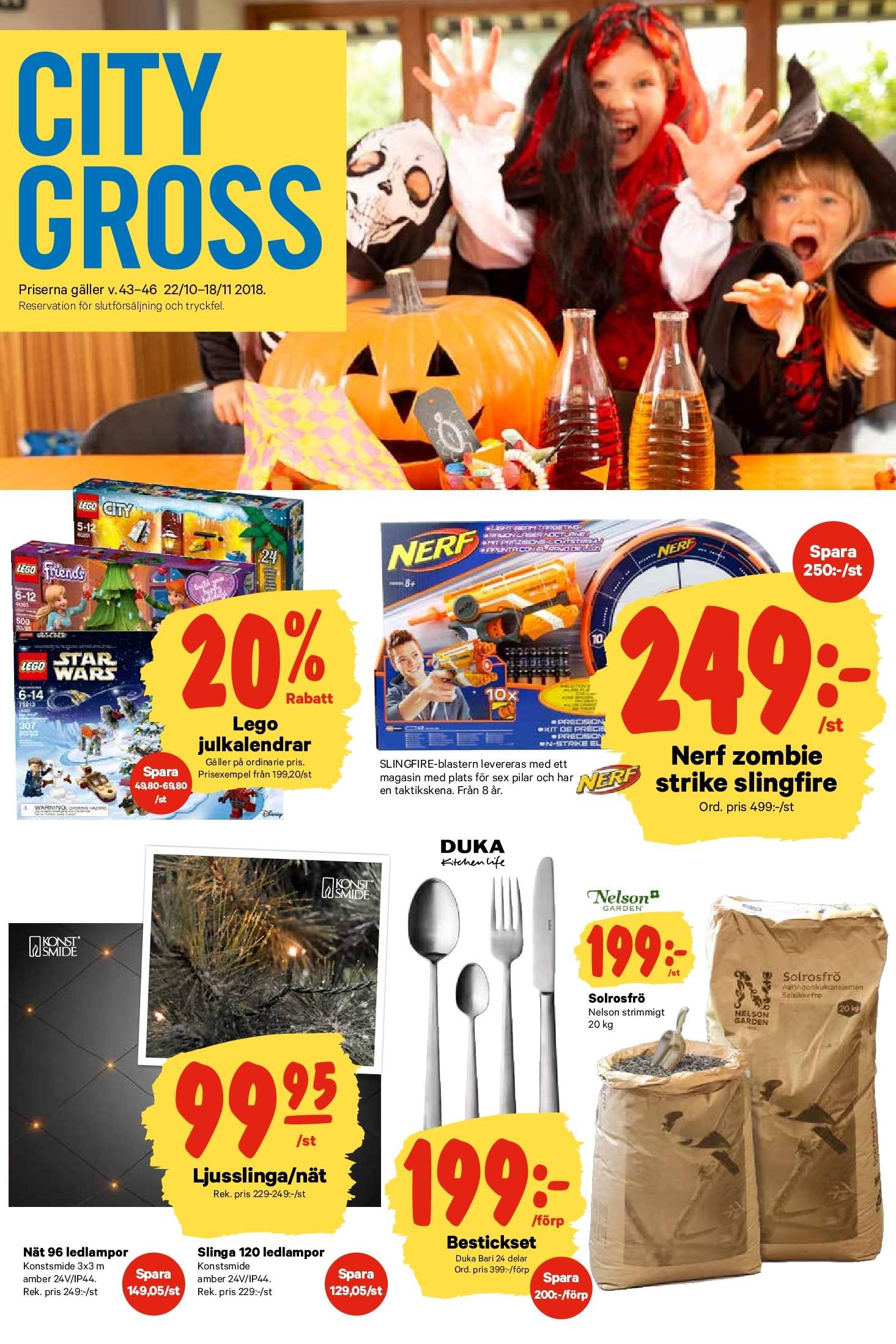 City Gross reklamblad - 22/10 2018 - 28/10 2018. Sida 16.