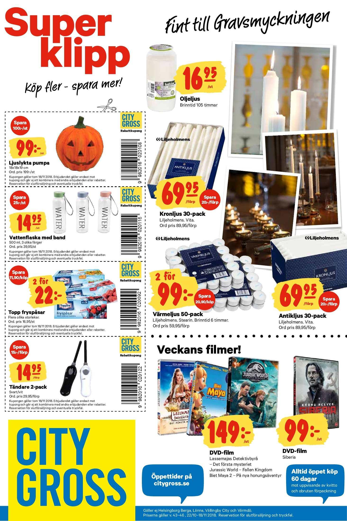 City Gross reklamblad - 22/10 2018 - 28/10 2018. Sida 17.