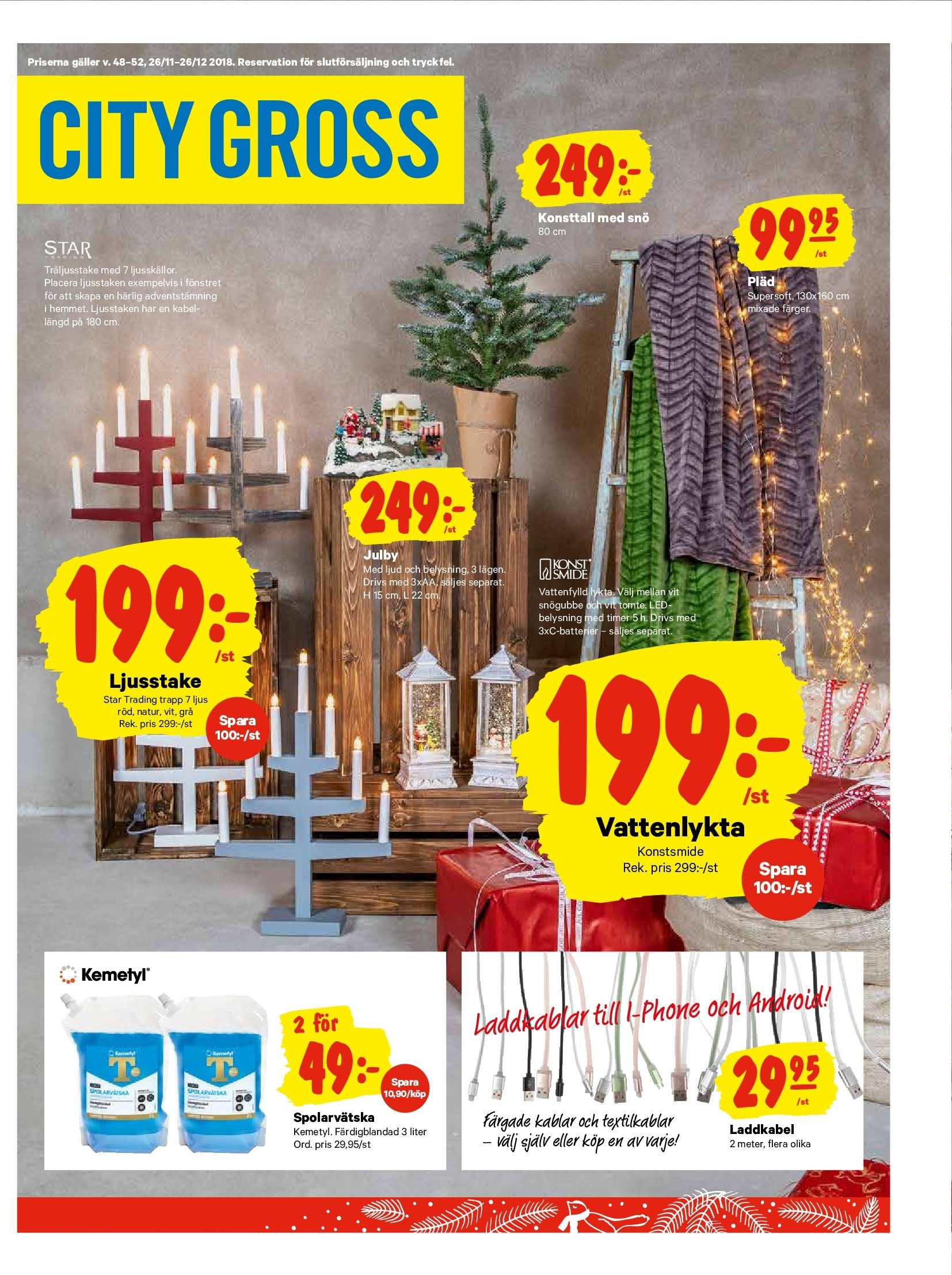 City Gross reklamblad - 26/11 2018 - 2/12 2018. Sida 13.