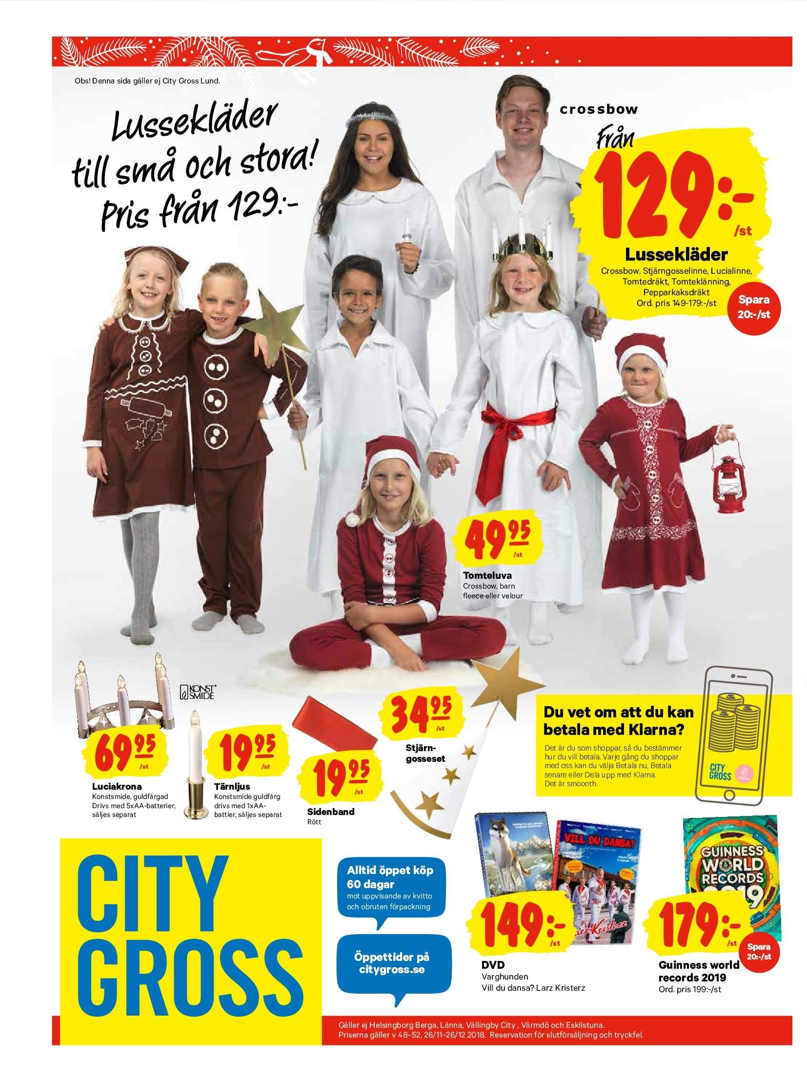 City Gross reklamblad - 26/11 2018 - 2/12 2018. Sida 20.