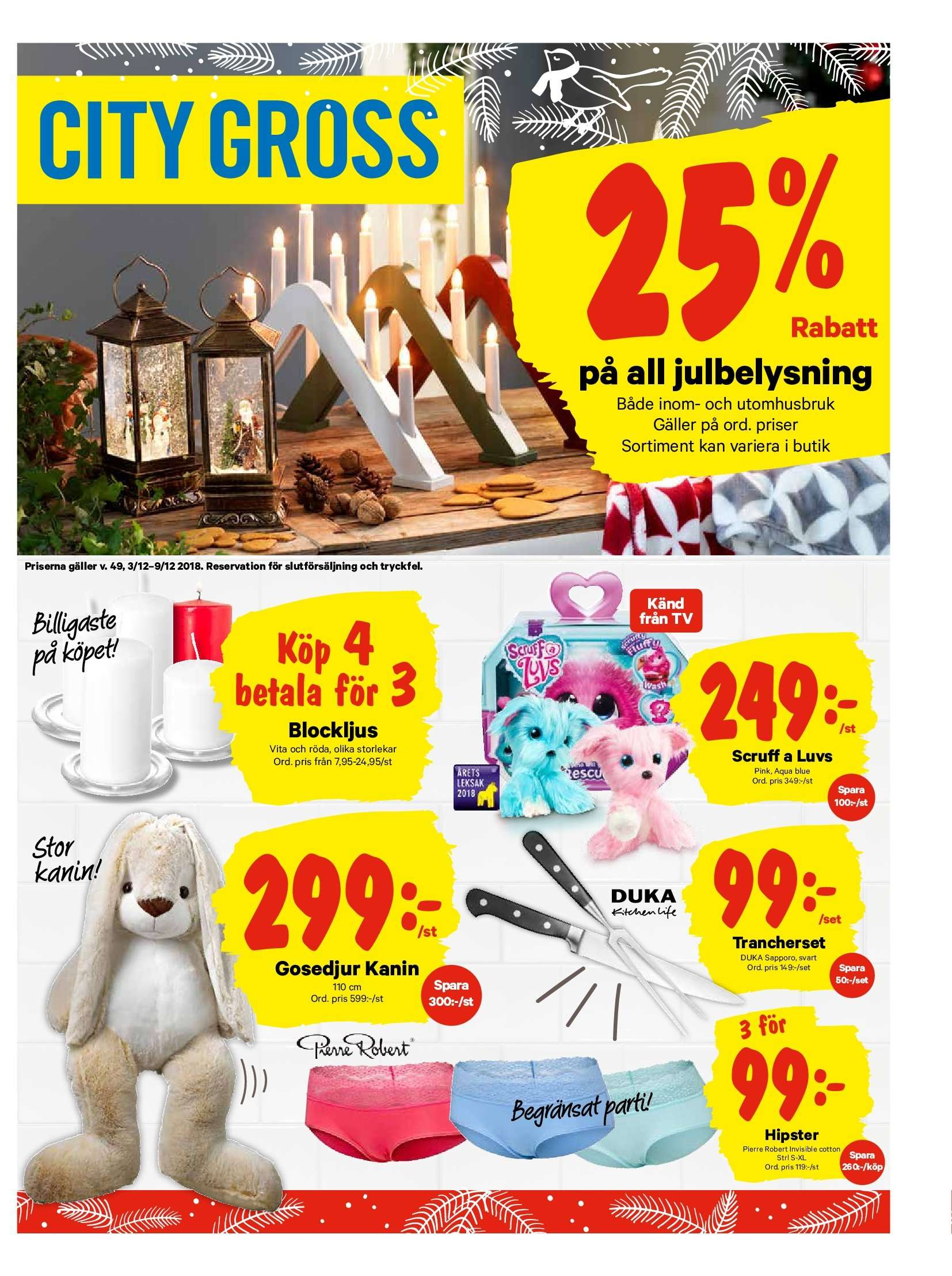 City Gross reklamblad - 3/12 2018 - 9/12 2018. Sida 12.