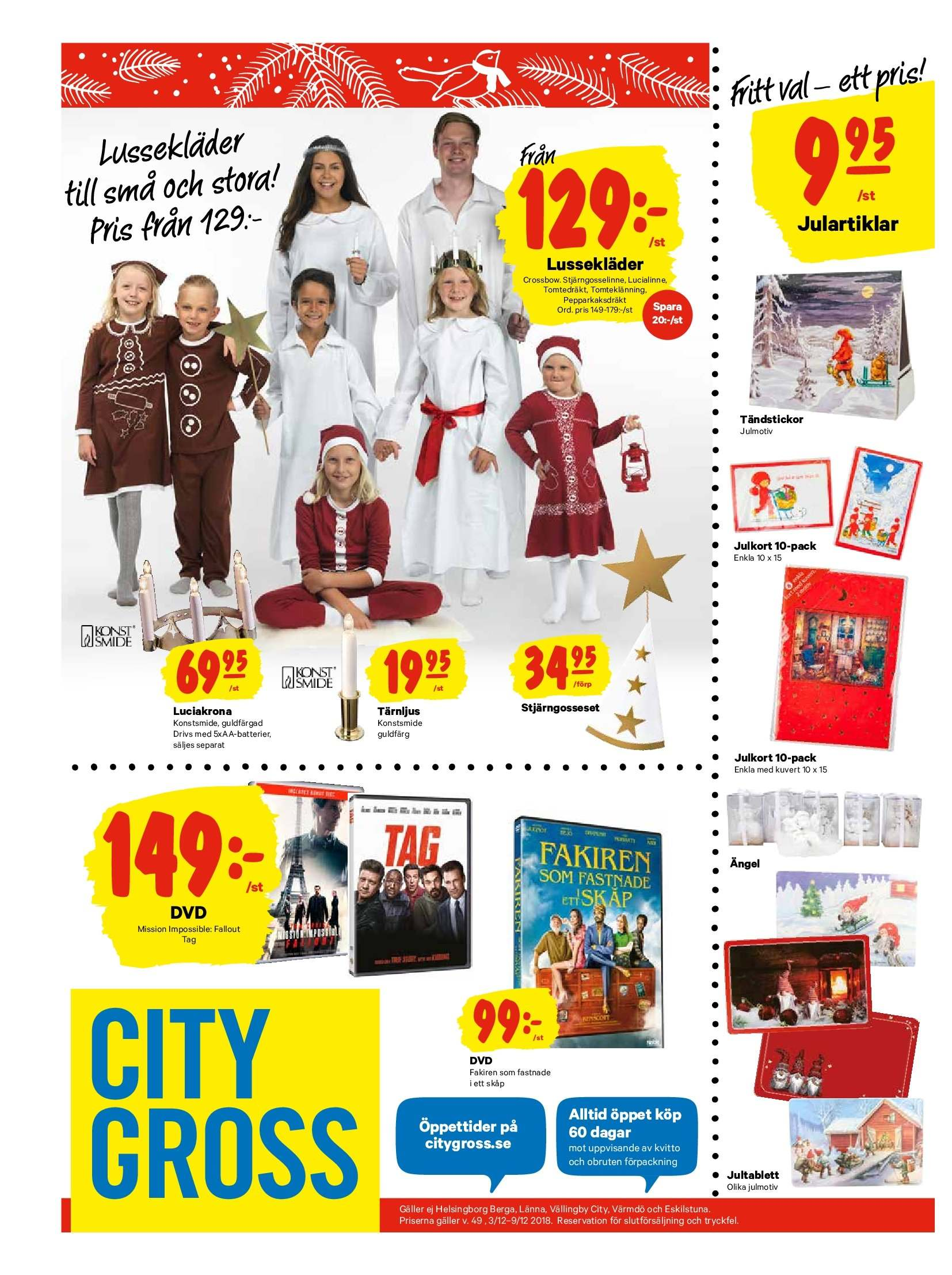 City Gross reklamblad - 3/12 2018 - 9/12 2018. Sida 19.