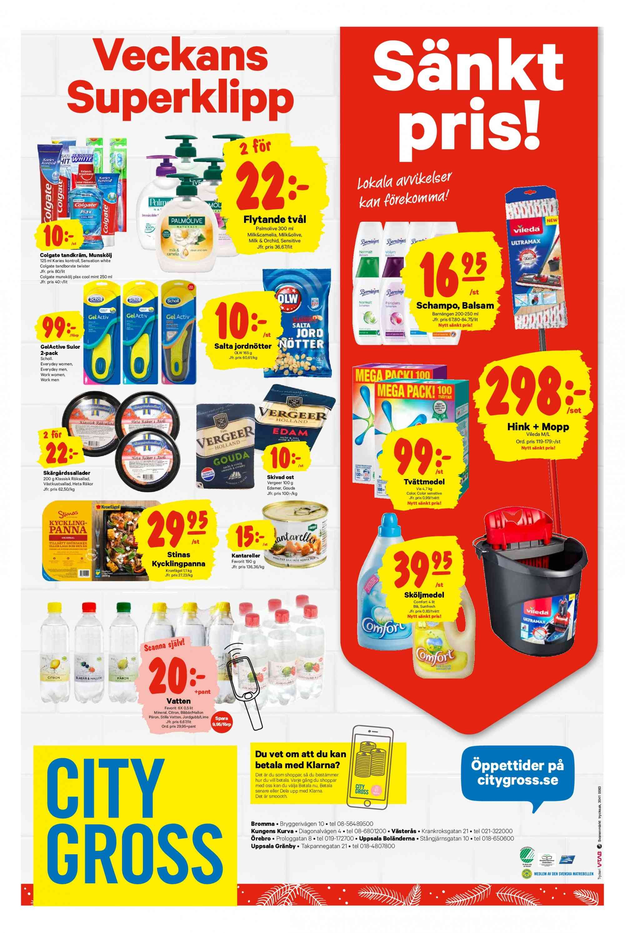 City Gross reklamblad - 10/12 2018 - 16/12 2018. Sida 12.