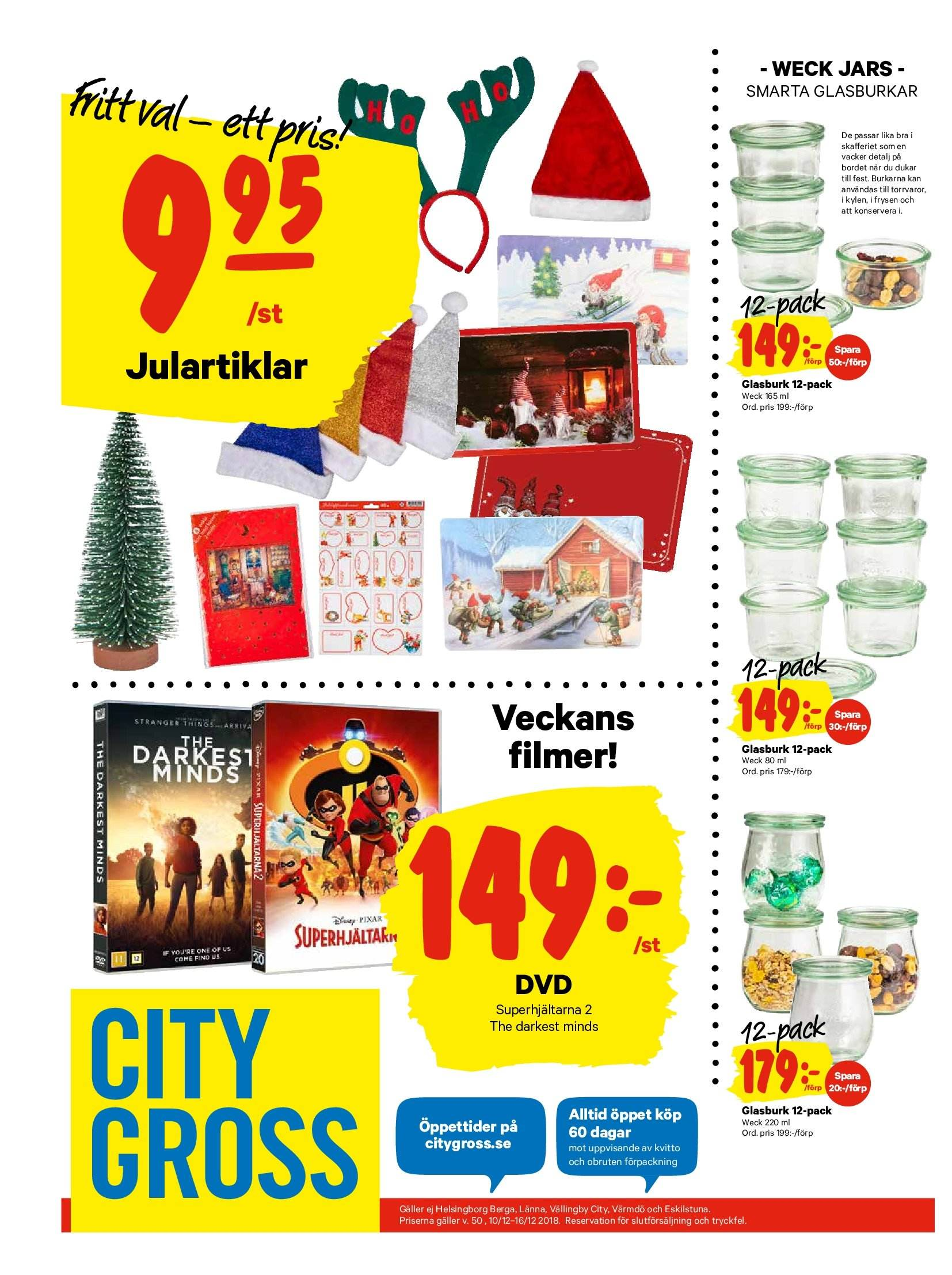 City Gross reklamblad - 10/12 2018 - 16/12 2018. Sida 20.