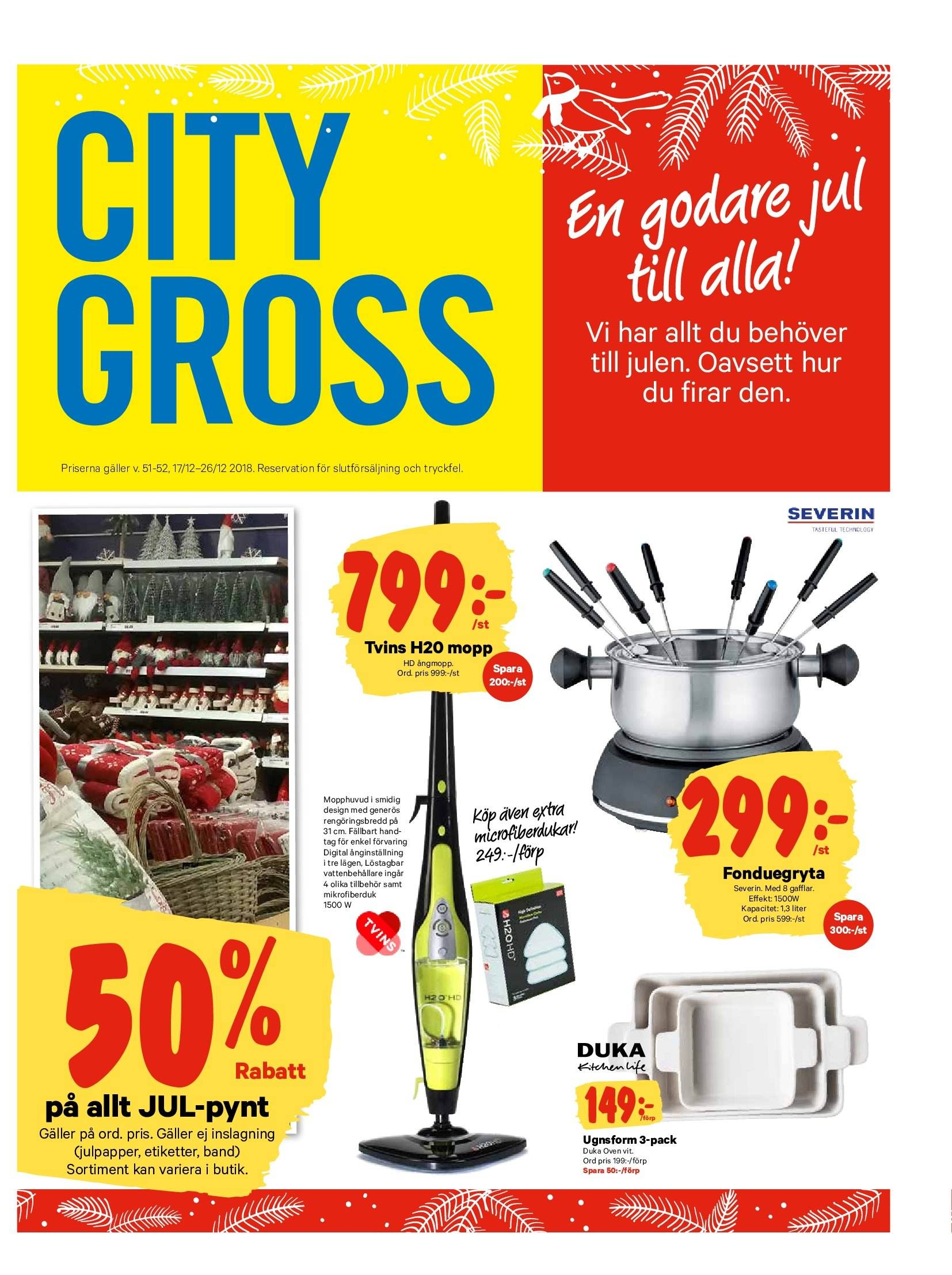 City Gross reklamblad - 17/12 2018 - 26/12 2018. Sida 14.