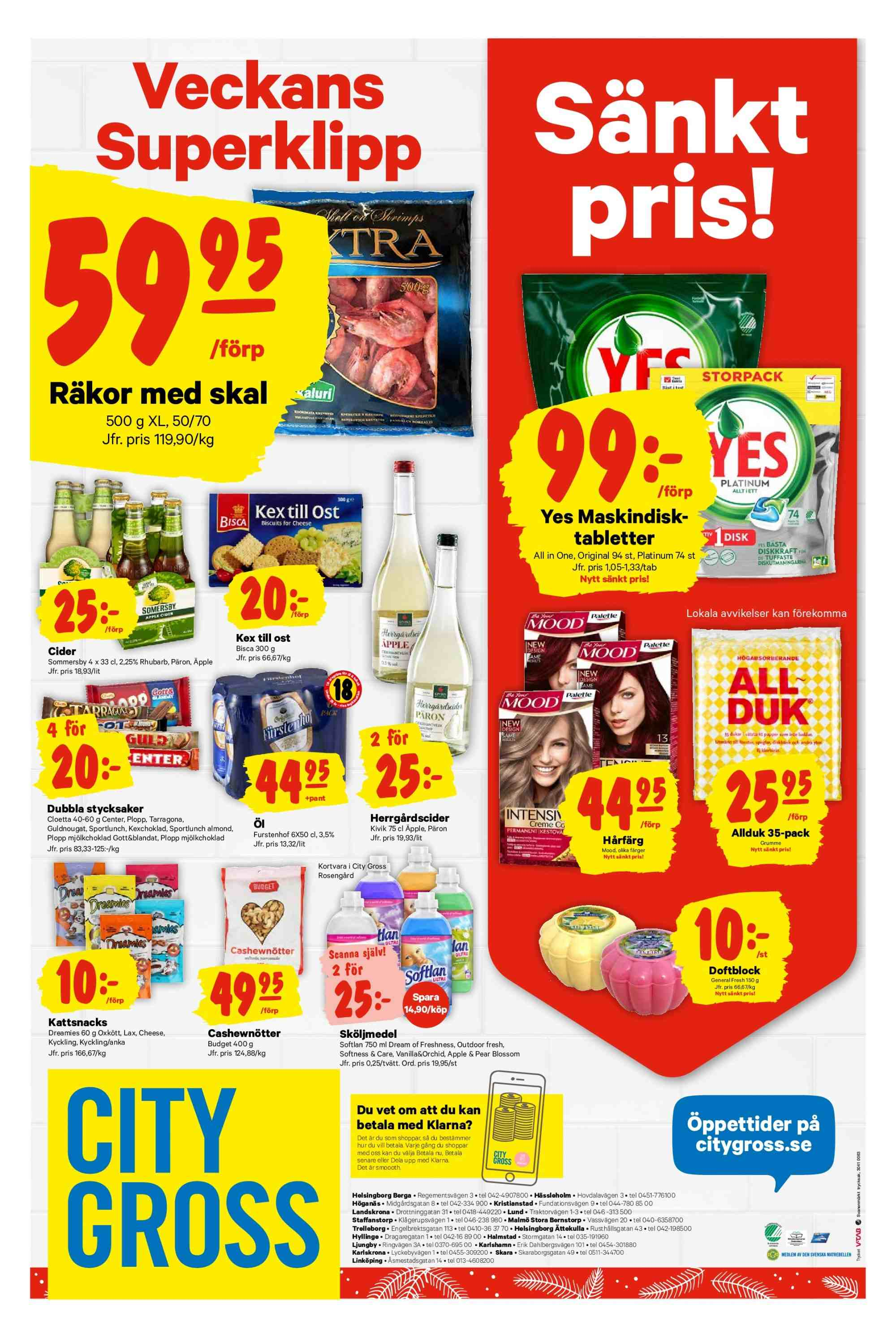City Gross reklamblad - 17/12 2018 - 26/12 2018. Sida 22.