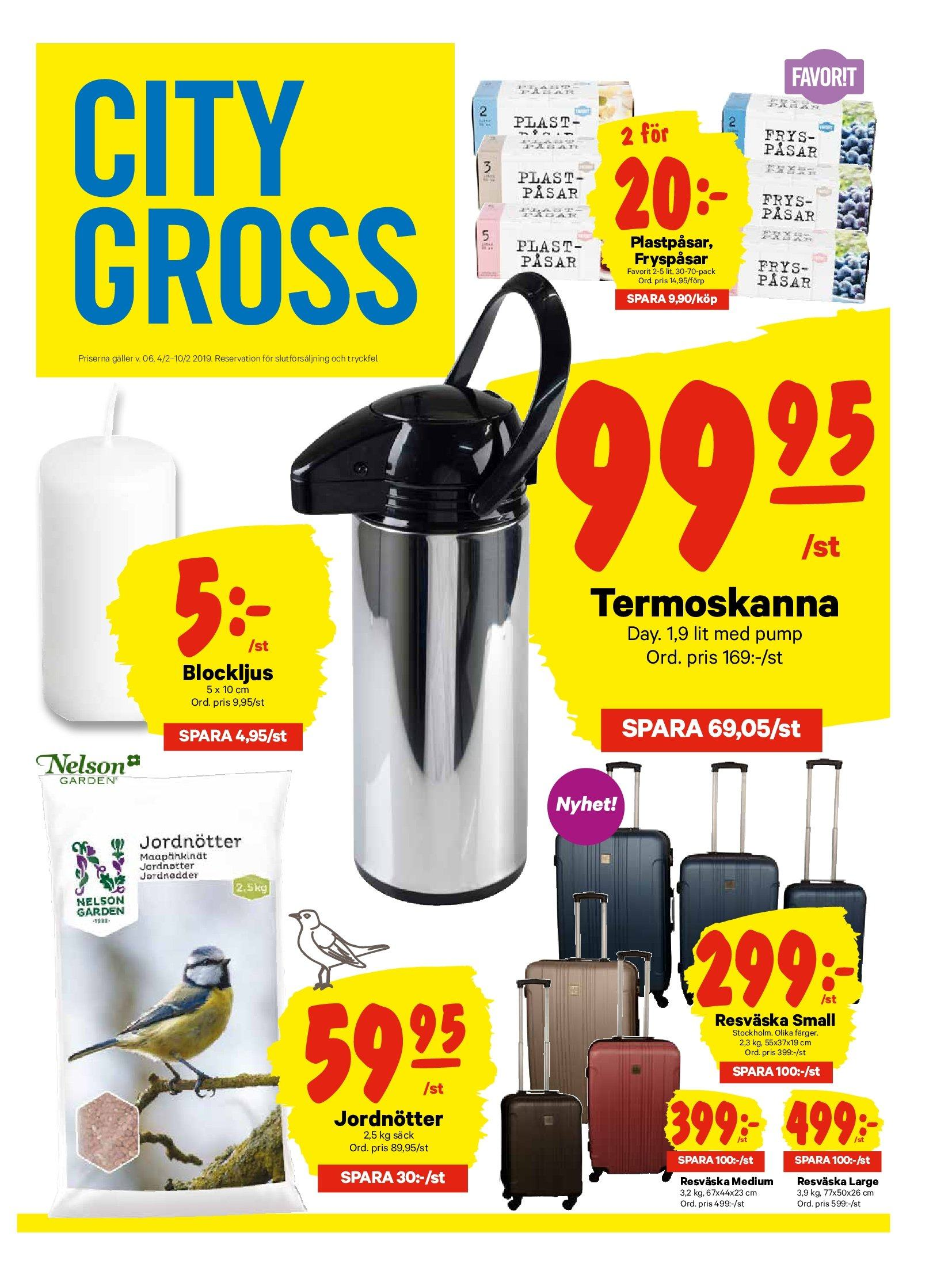 City Gross reklamblad - 4/2 2019 - 10/2 2019. Sida 12.