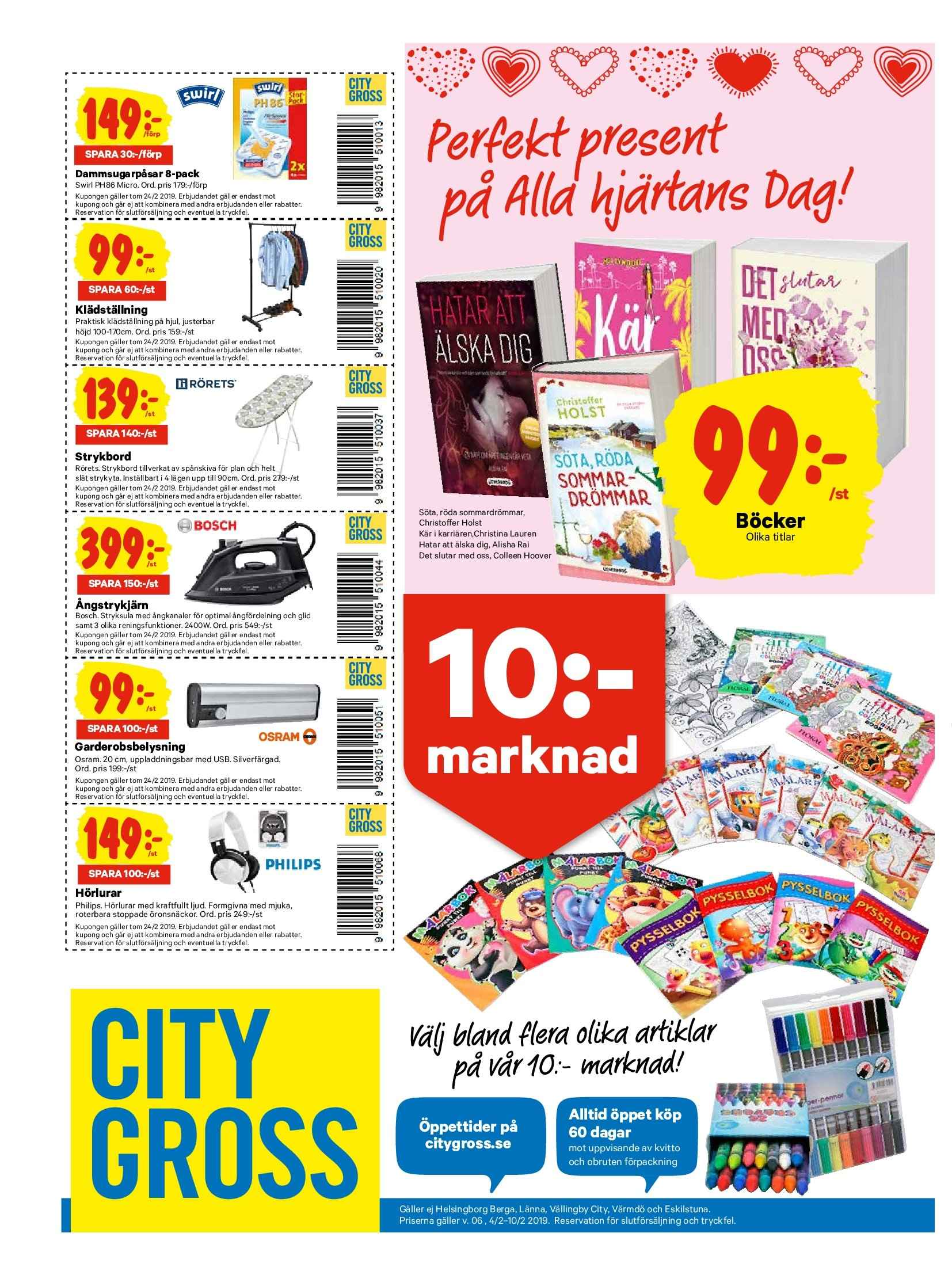 City Gross reklamblad - 4/2 2019 - 10/2 2019. Sida 15.