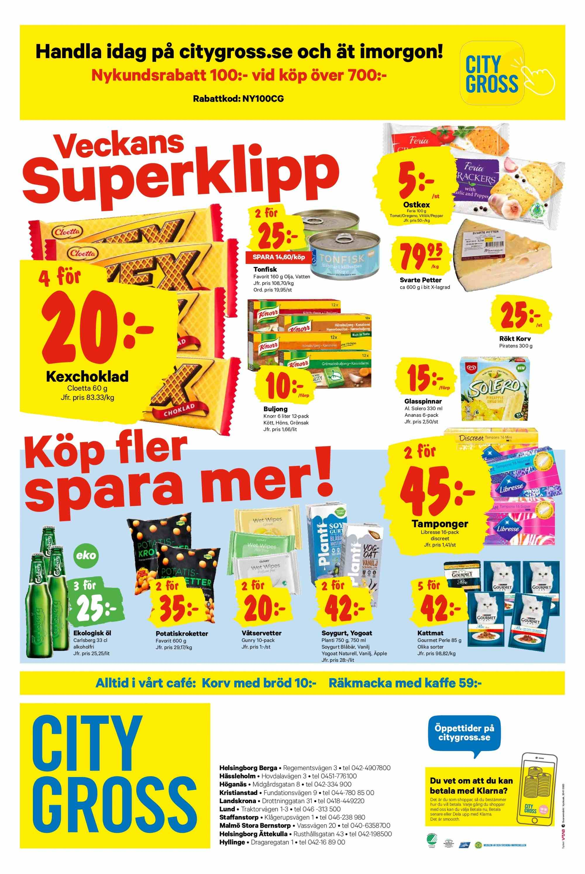City Gross reklamblad - 25/3 2019 - 31/3 2019. Sida 12.