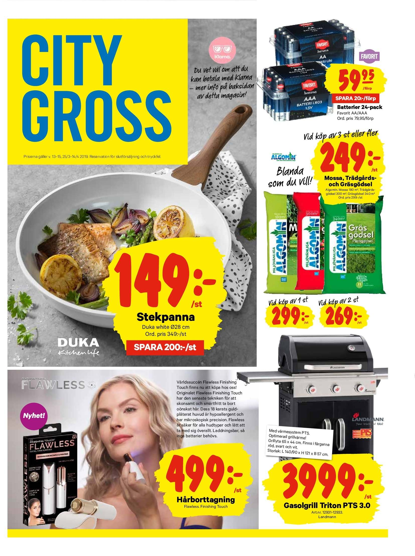 City Gross reklamblad - 25/3 2019 - 31/3 2019. Sida 13.