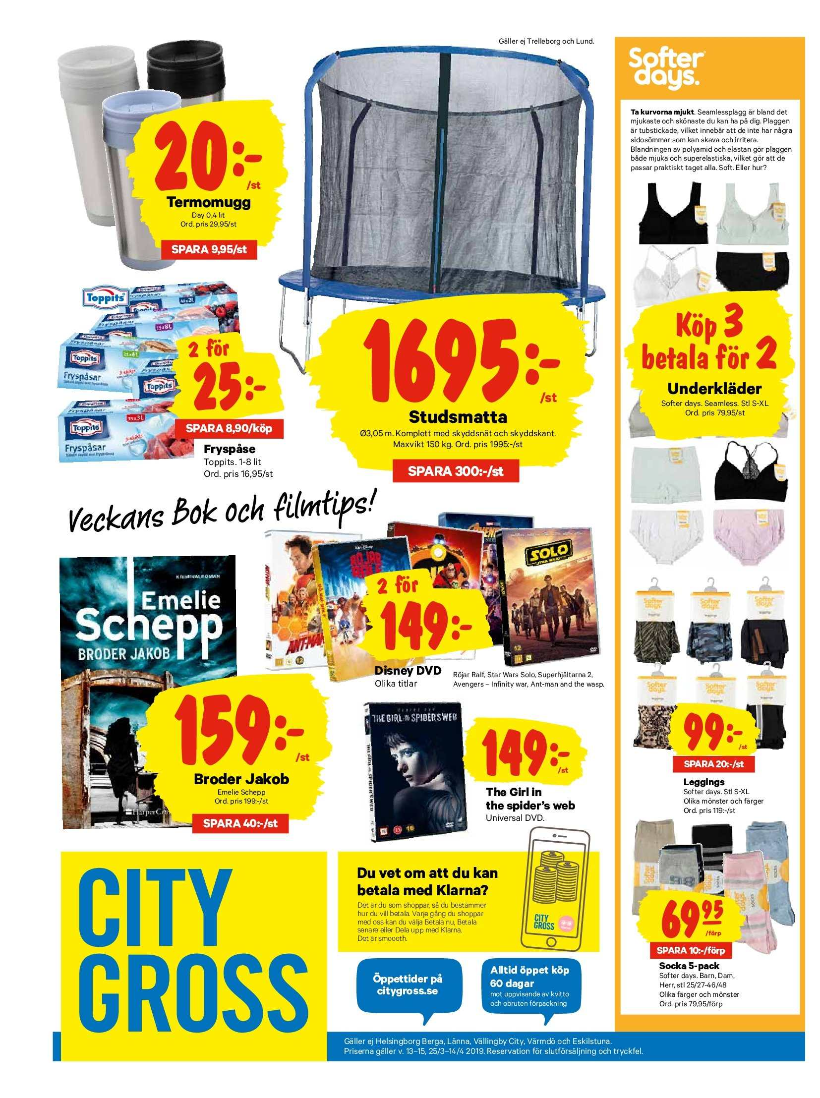 City Gross reklamblad - 25/3 2019 - 31/3 2019. Sida 20.