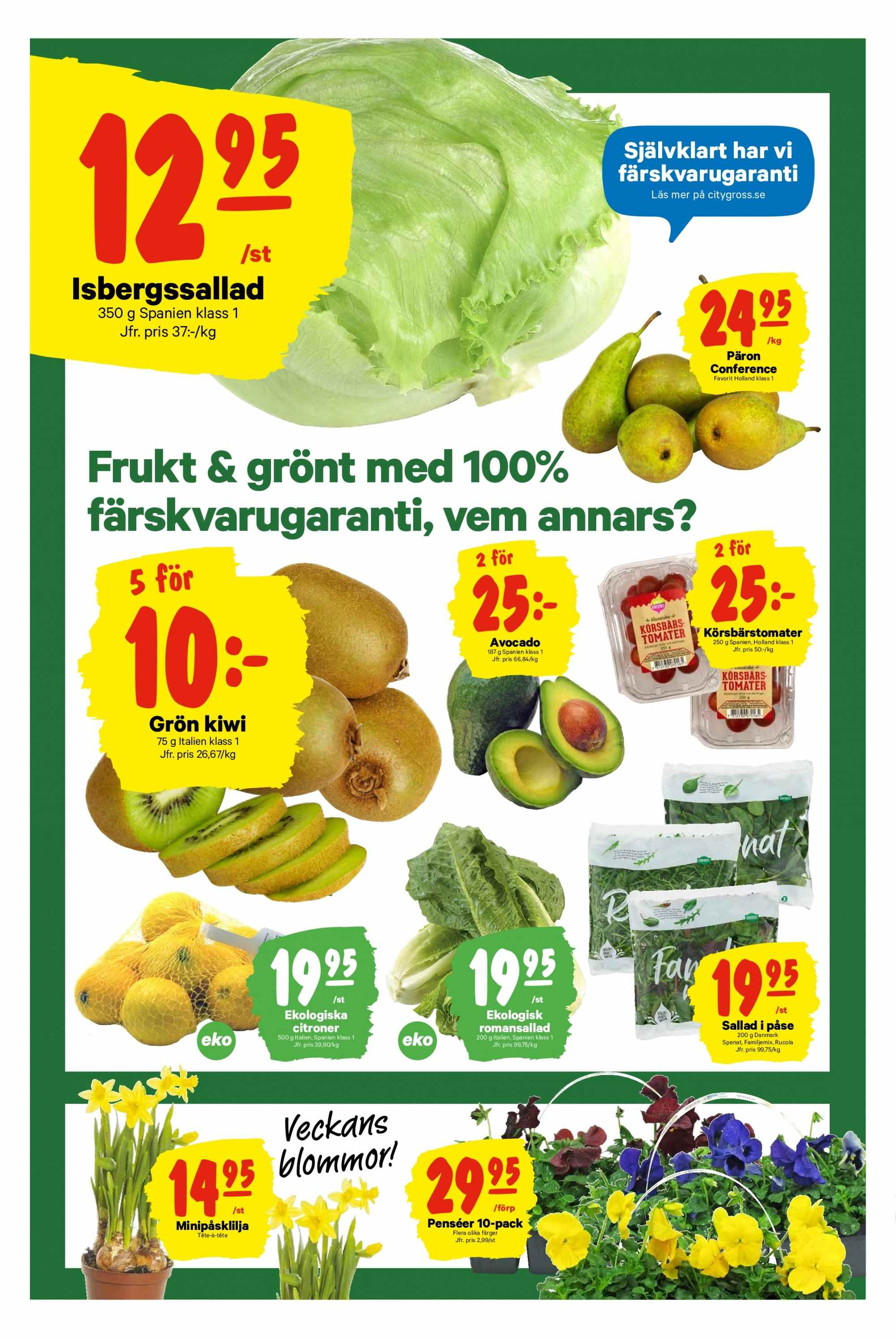 City Gross reklamblad - 1/4 2019 - 7/4 2019. Sida 4.