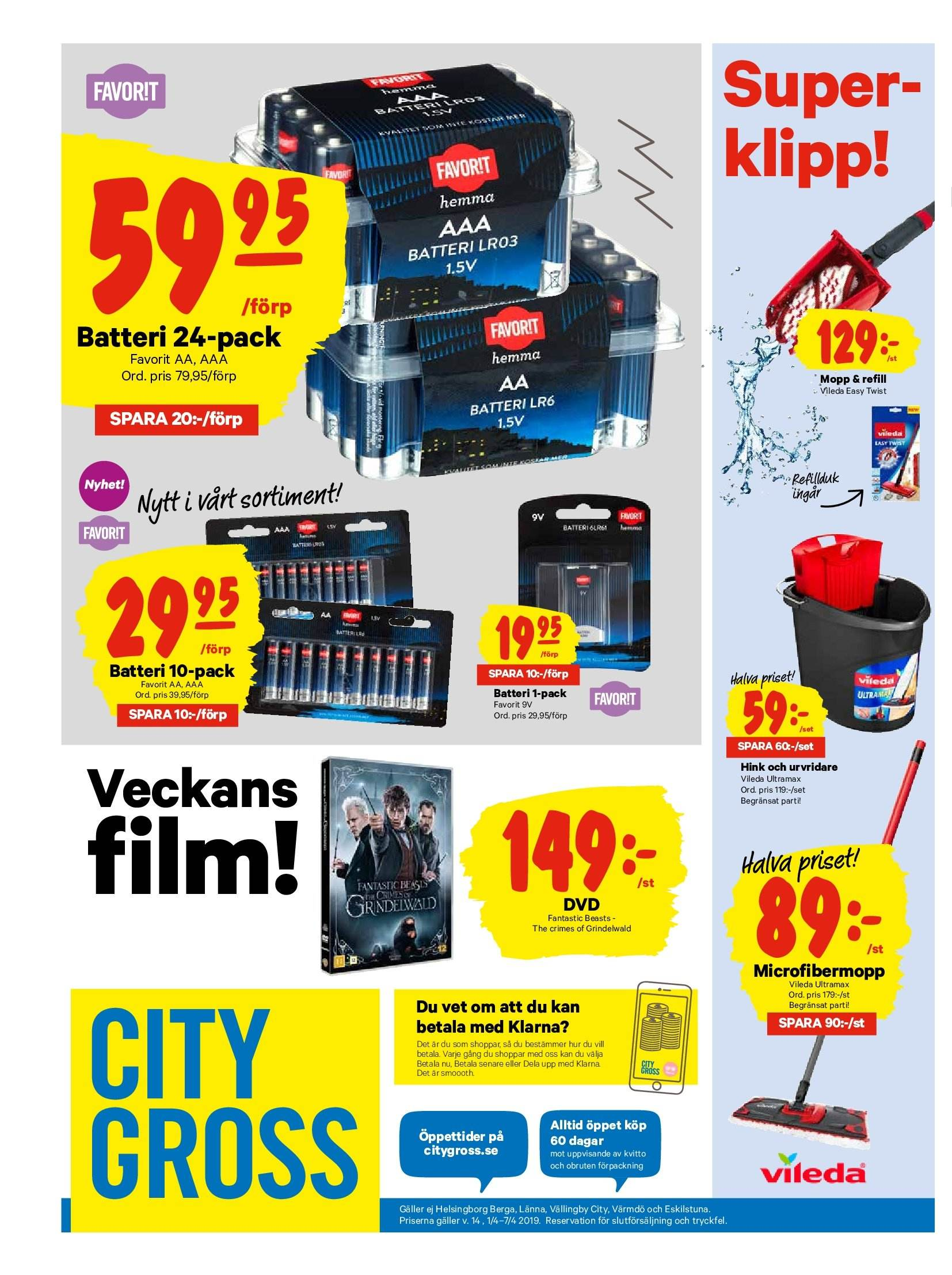 City Gross reklamblad - 1/4 2019 - 7/4 2019. Sida 16.