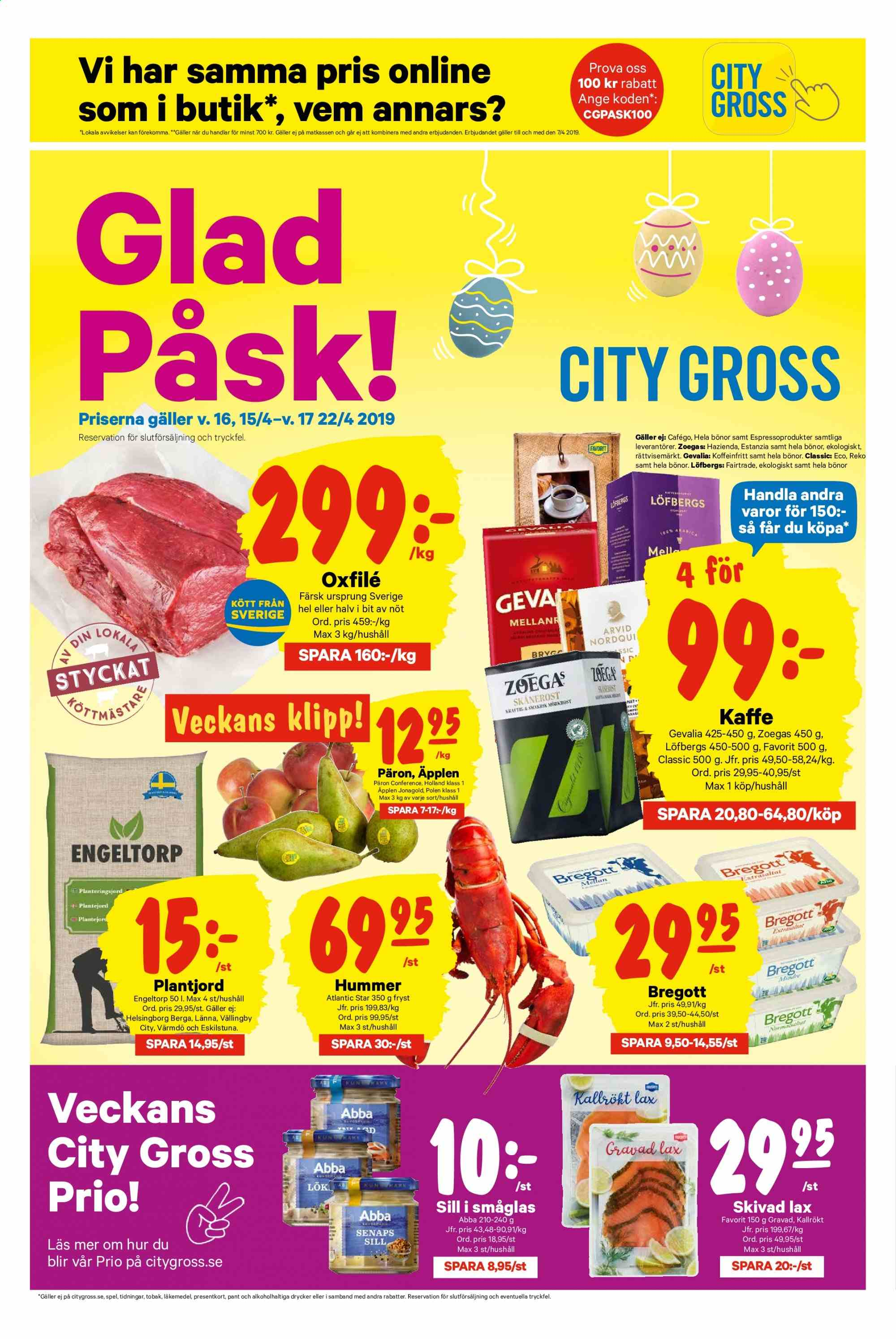 City Gross reklamblad - 15/4 2019 - 22/4 2019. Sida 1.