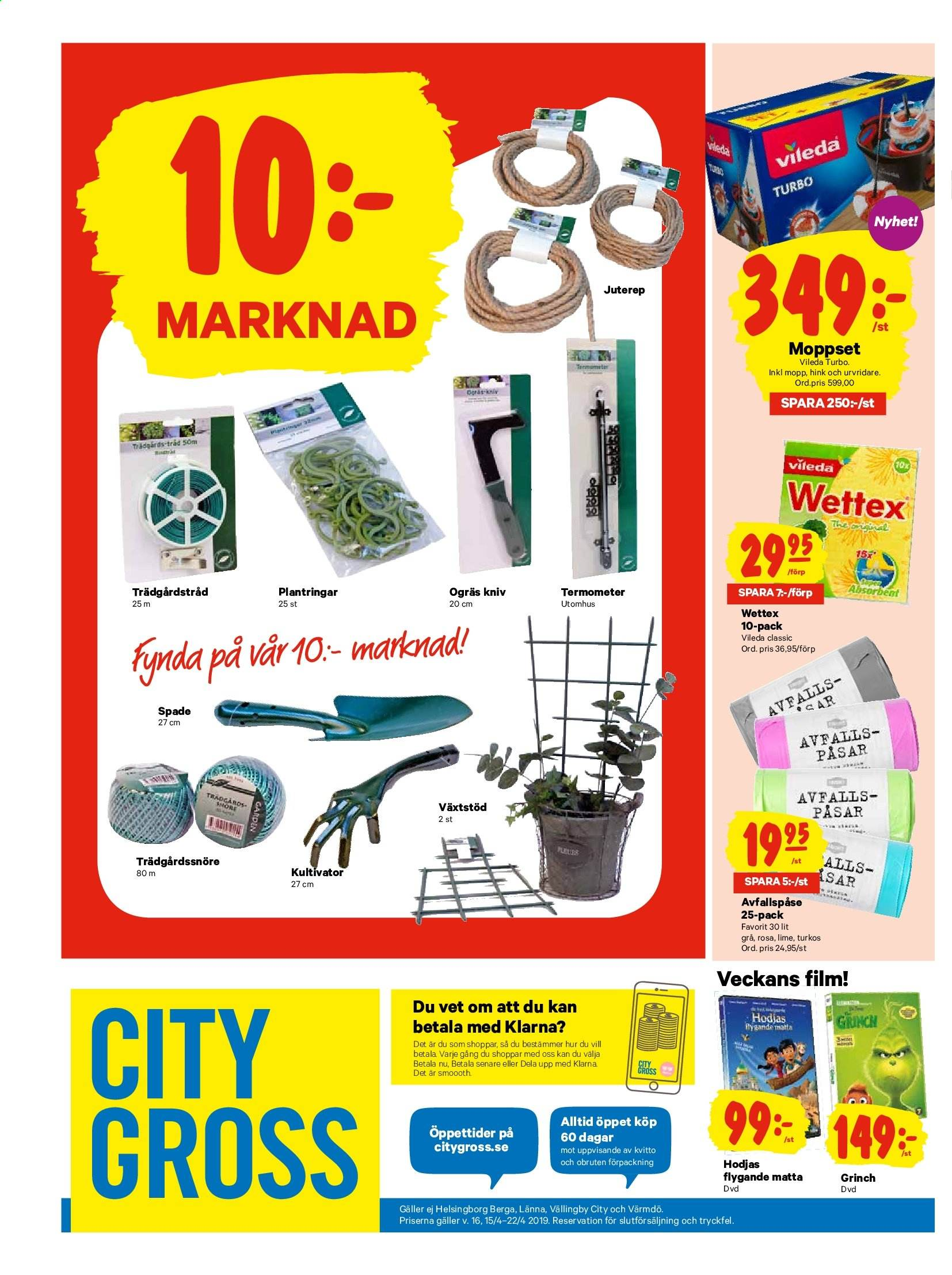 City Gross reklamblad - 15/4 2019 - 22/4 2019. Sida 20.